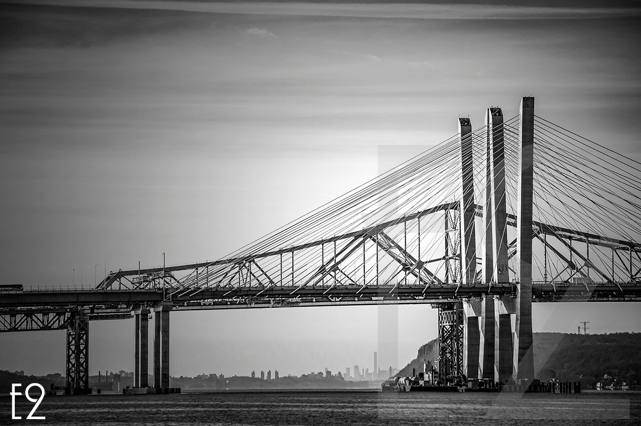 Tappan Zee Bridge Old And New  by ezwo