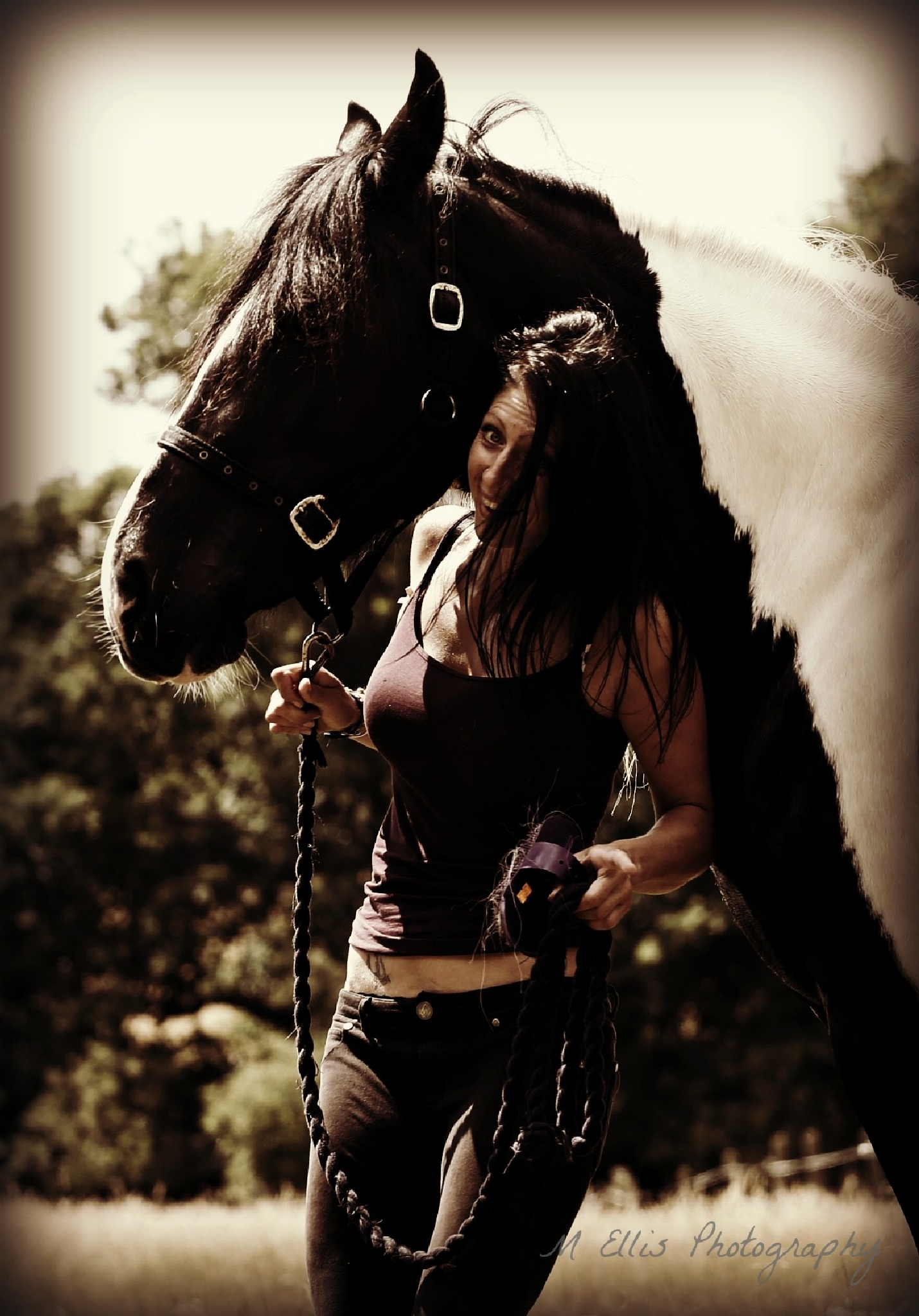 Fun shot on equine shoot. by Martin Ellis