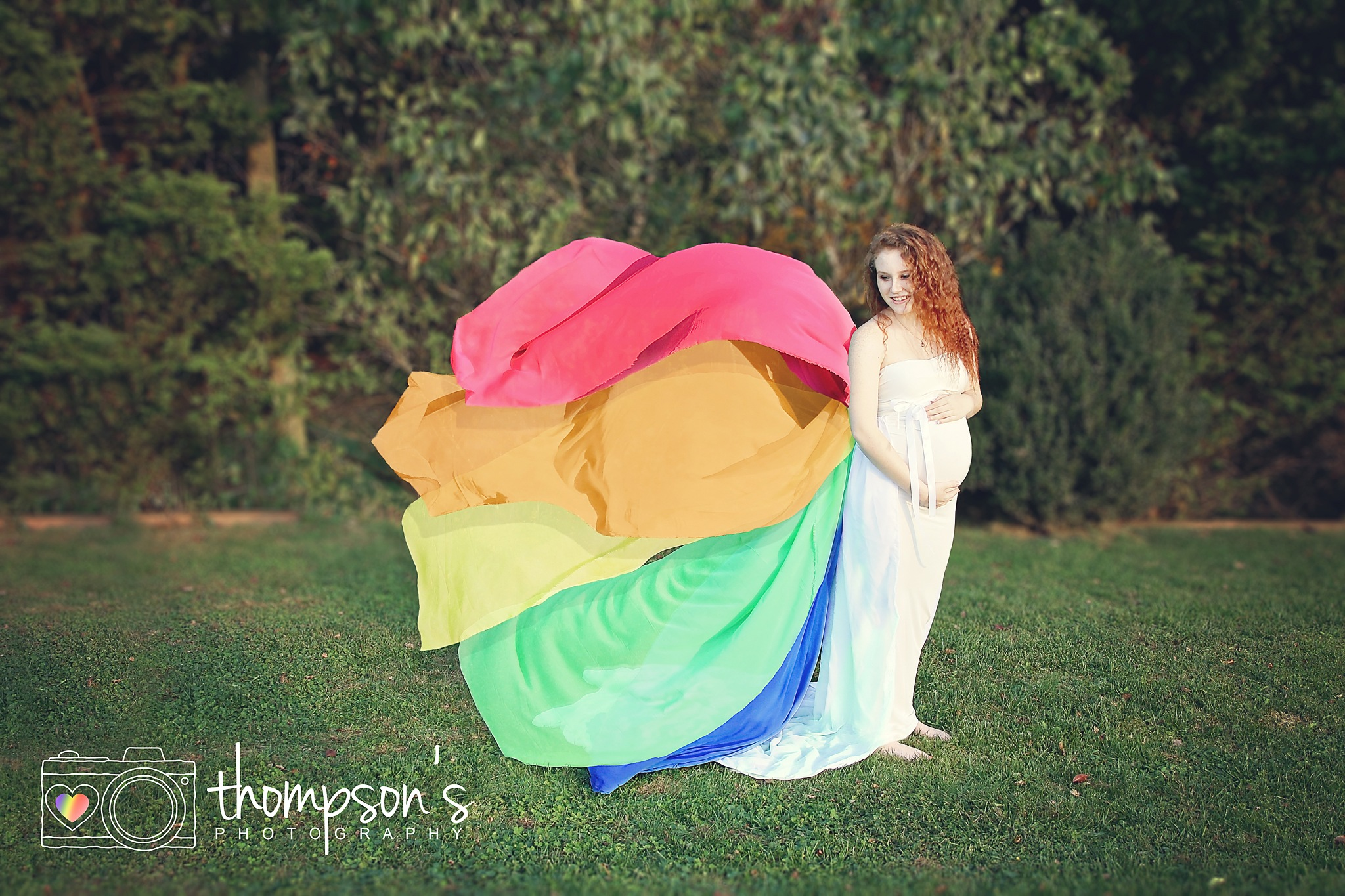 Miss N's rainbow maternity session by AngieThompson