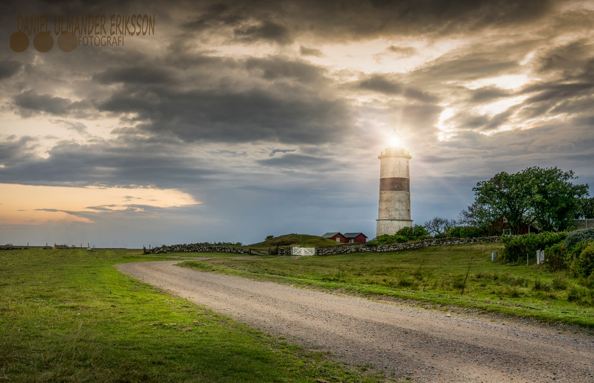 Dramatic lighthouse by Daniel Eriksson