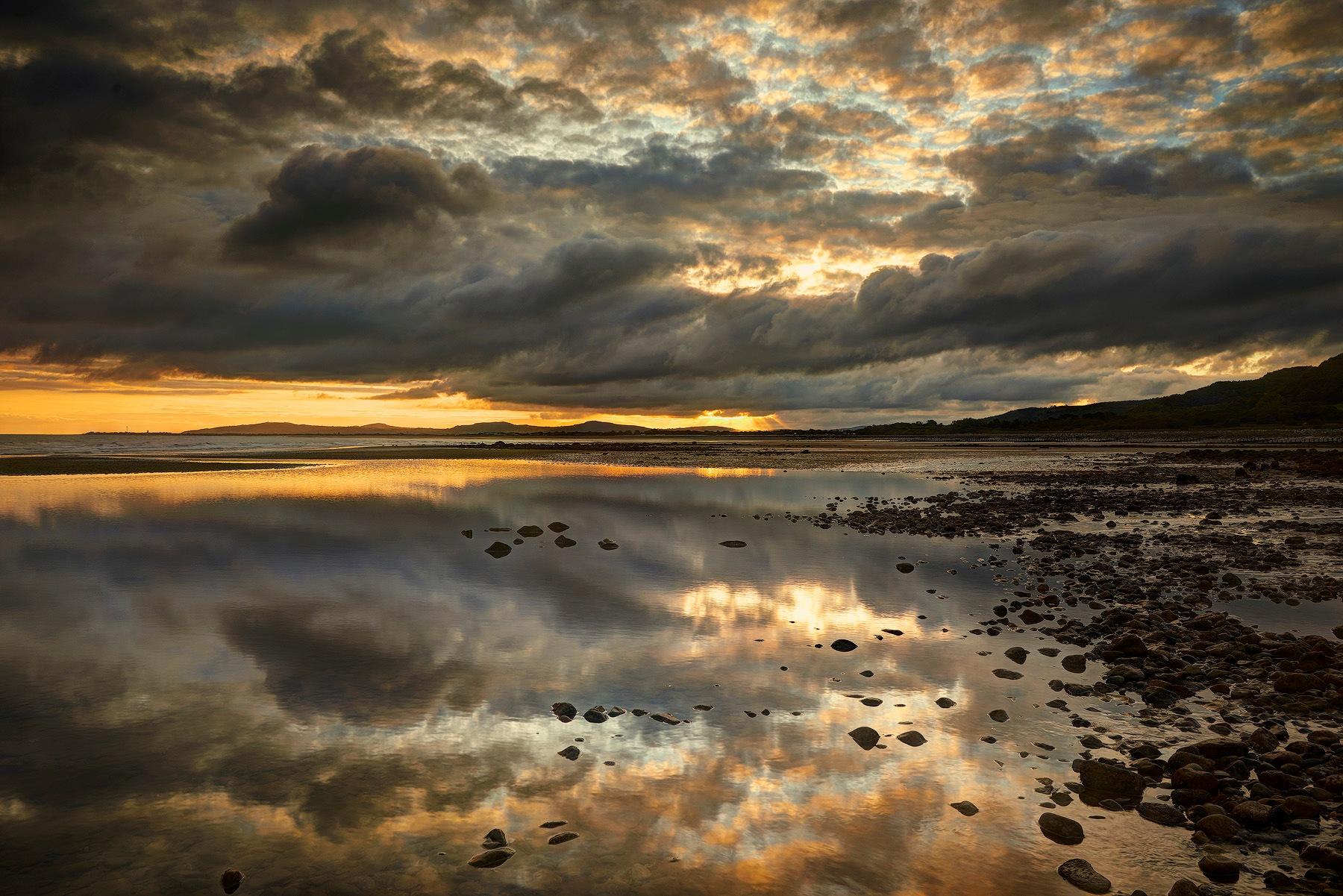 Sunrise At The Beach (Llanddulas) North Wales by John Corney
