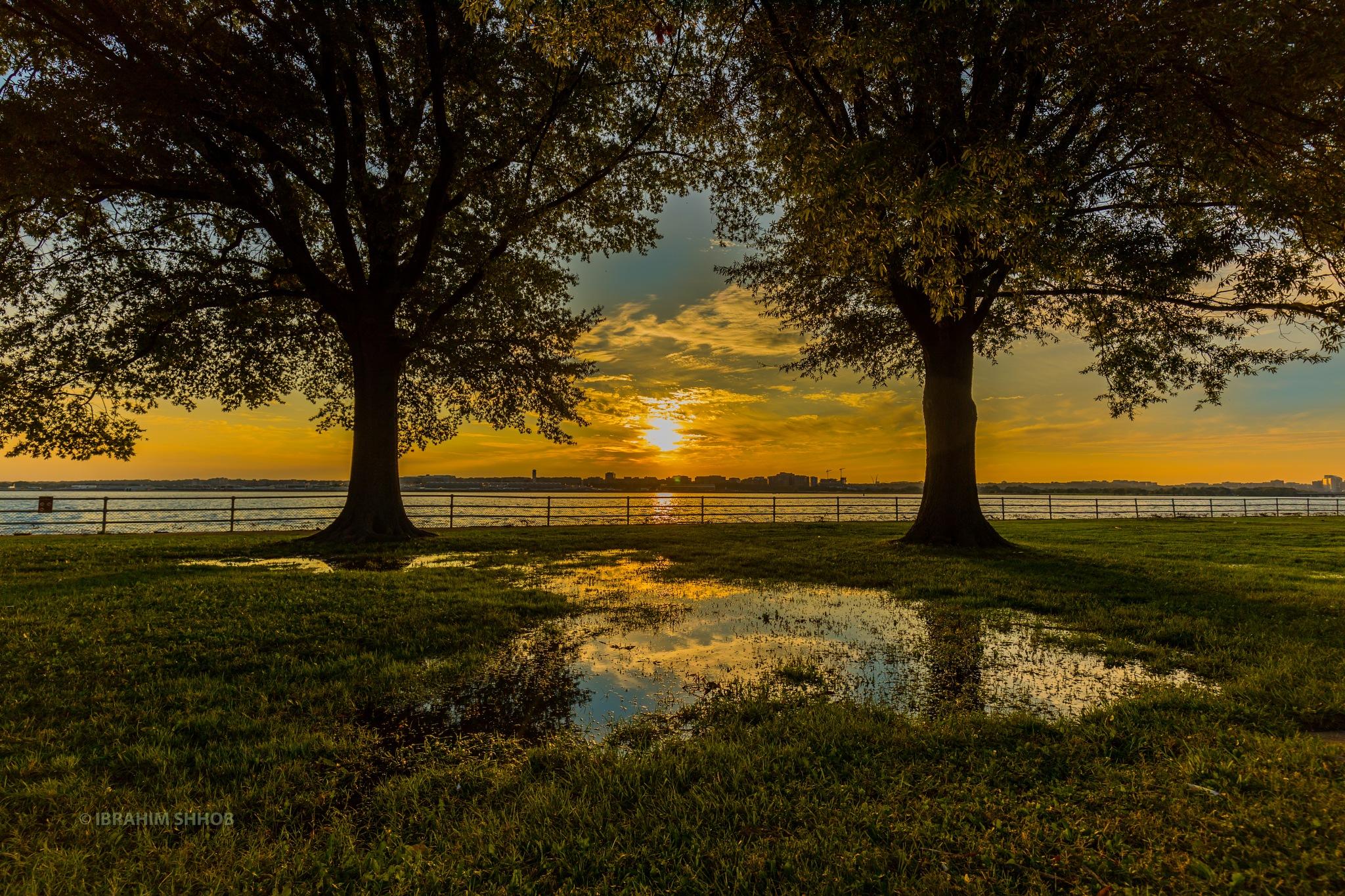 sunset by Ibrahim shhob