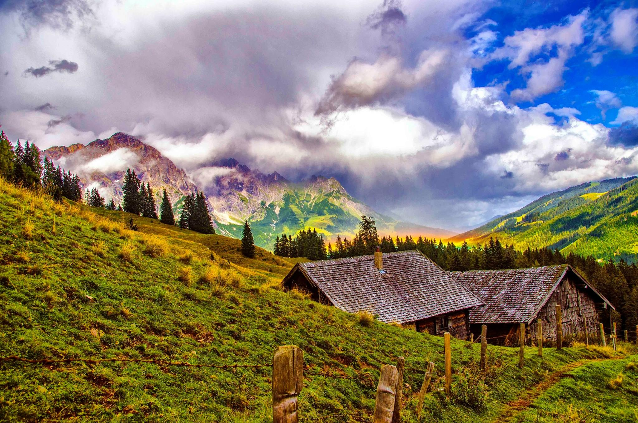 Little house in the Alps by Manny D Suriel