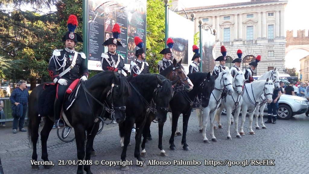 Officers on Horses by Alfonso Palumbo