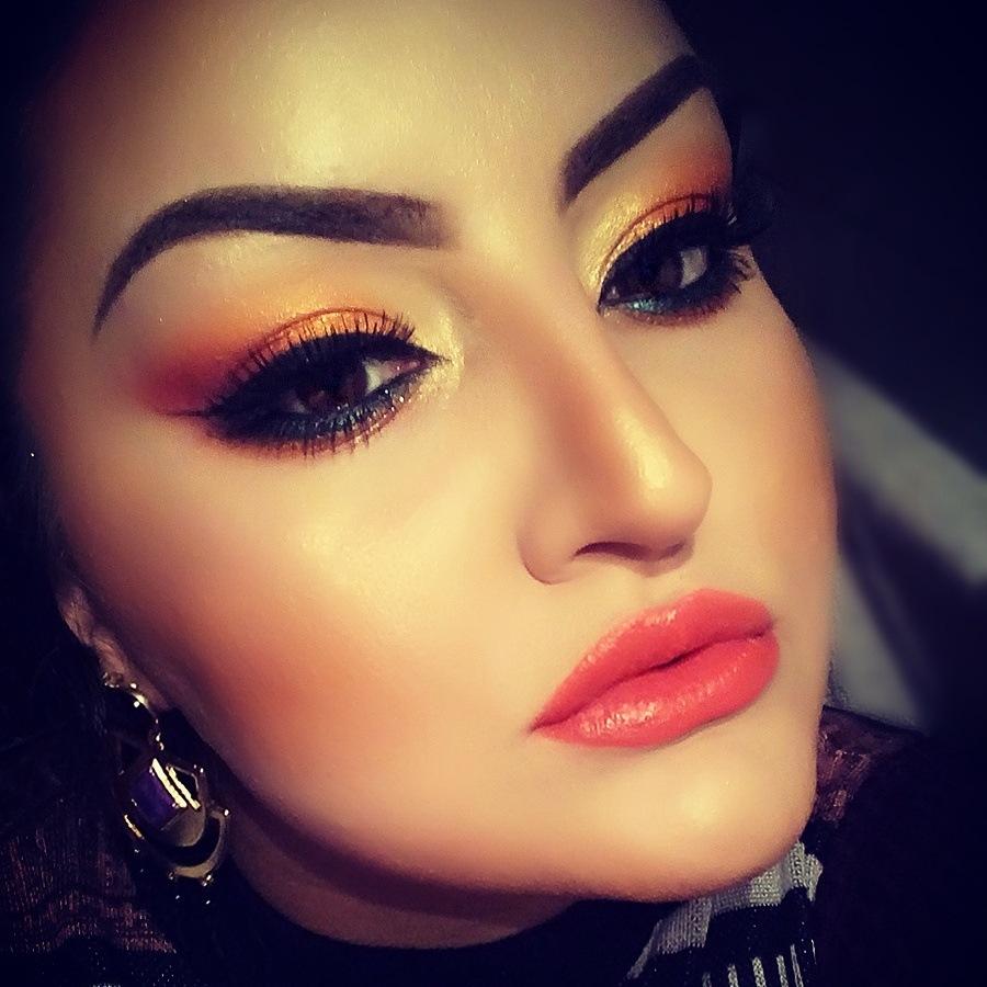 orange! by Make-up & photos by E. G.
