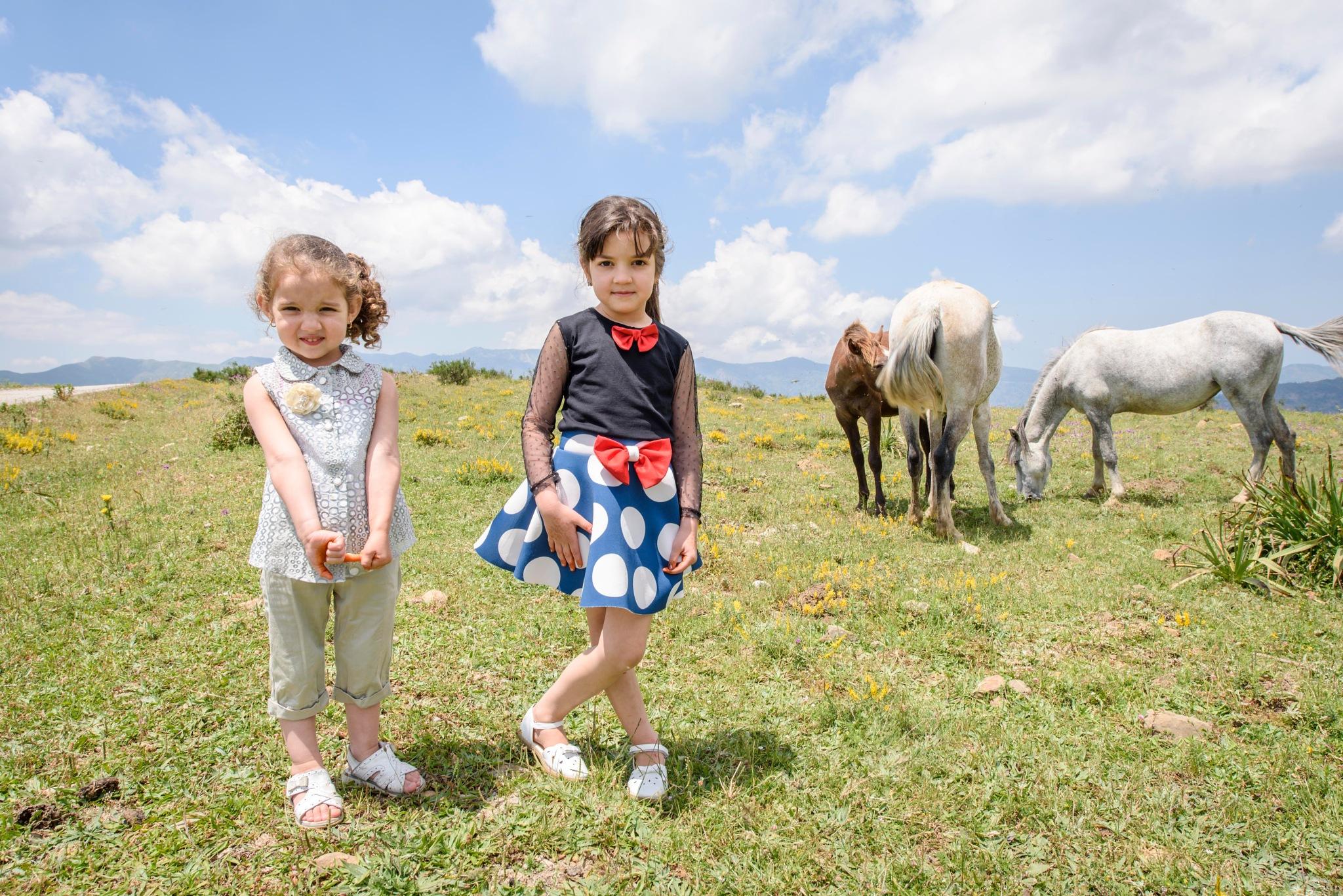 Girls and horses by Noureddine Belfethi
