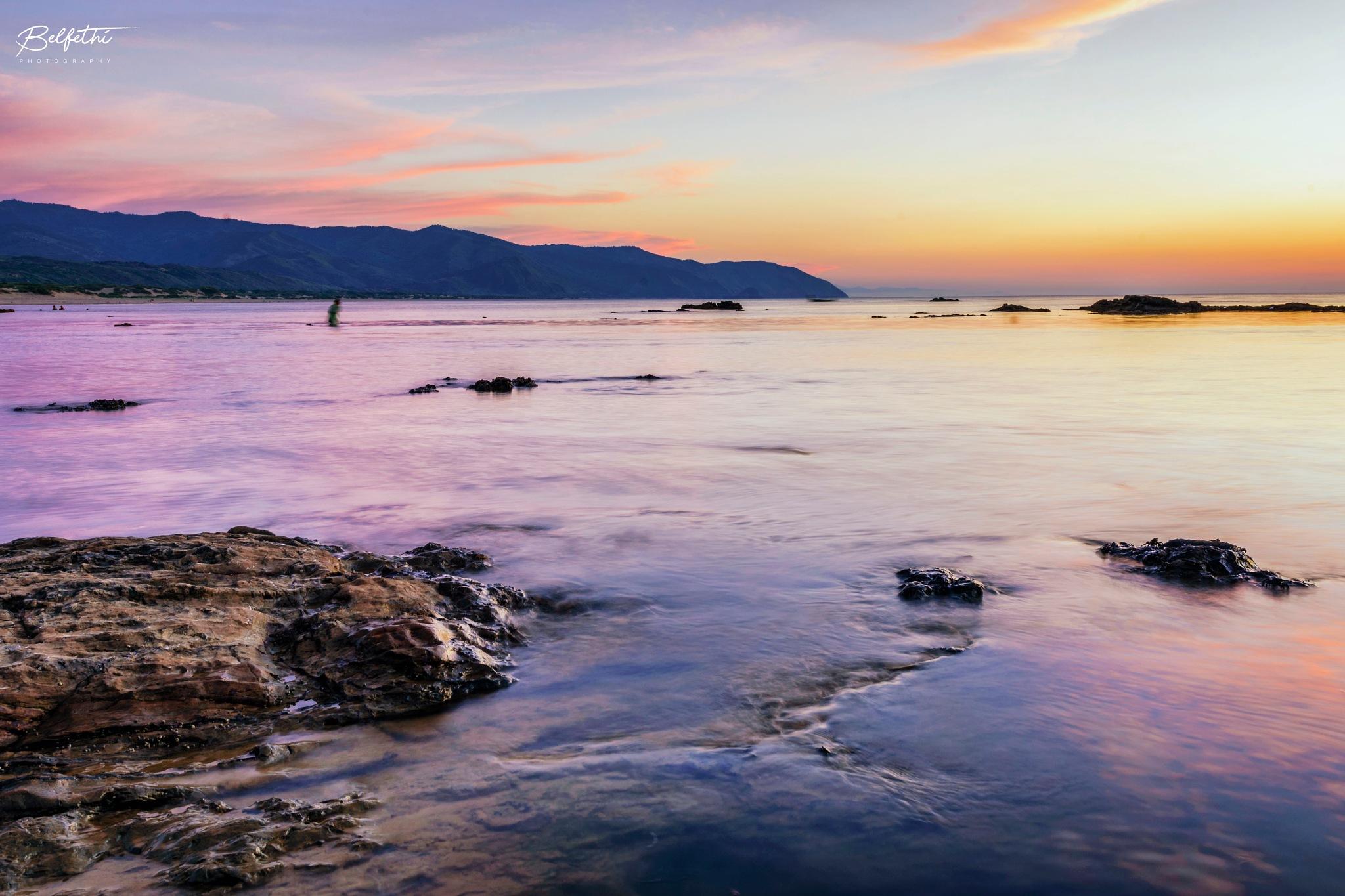 After sunset by Noureddine Belfethi