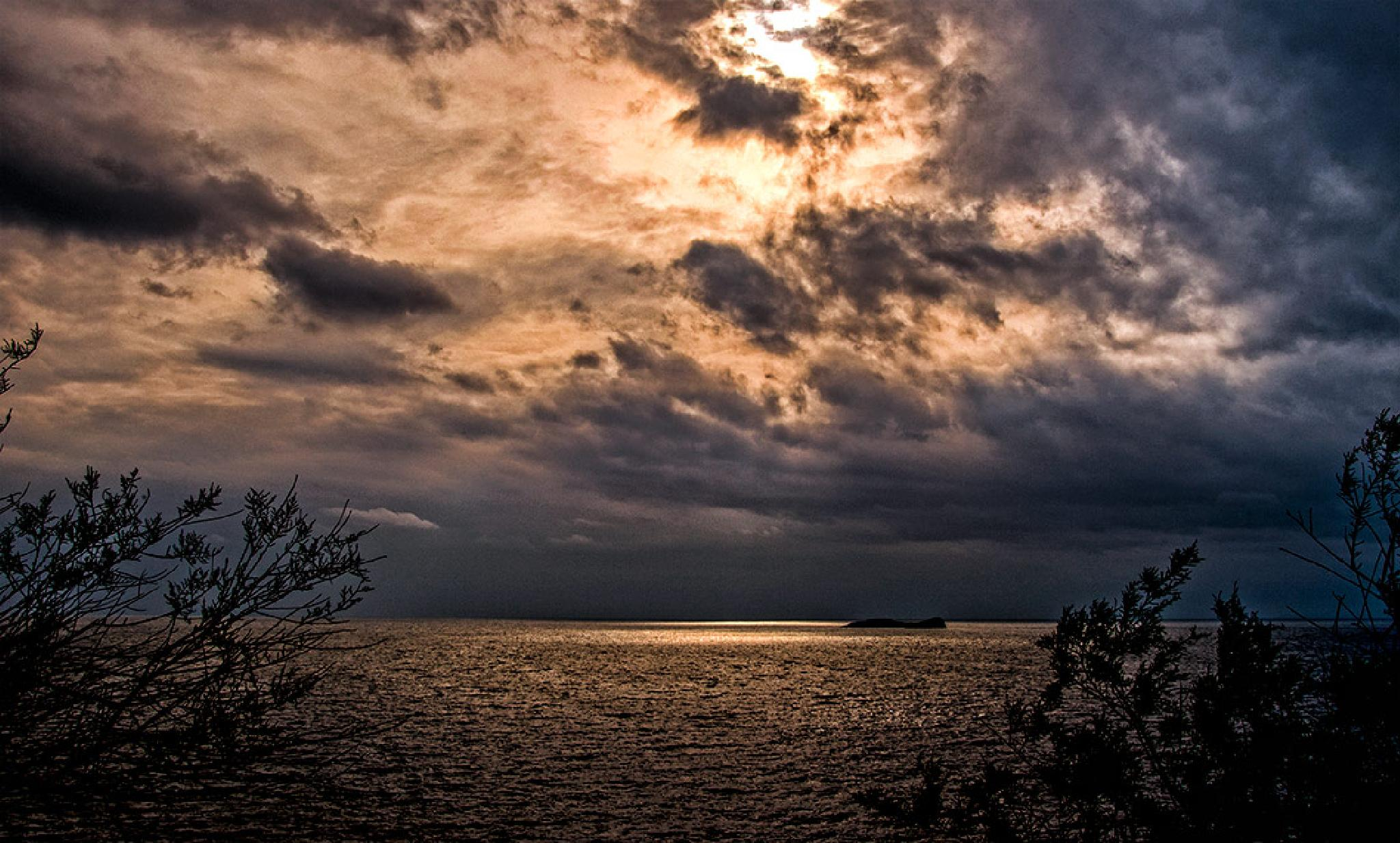 winter sunset by Sotiris Siomis