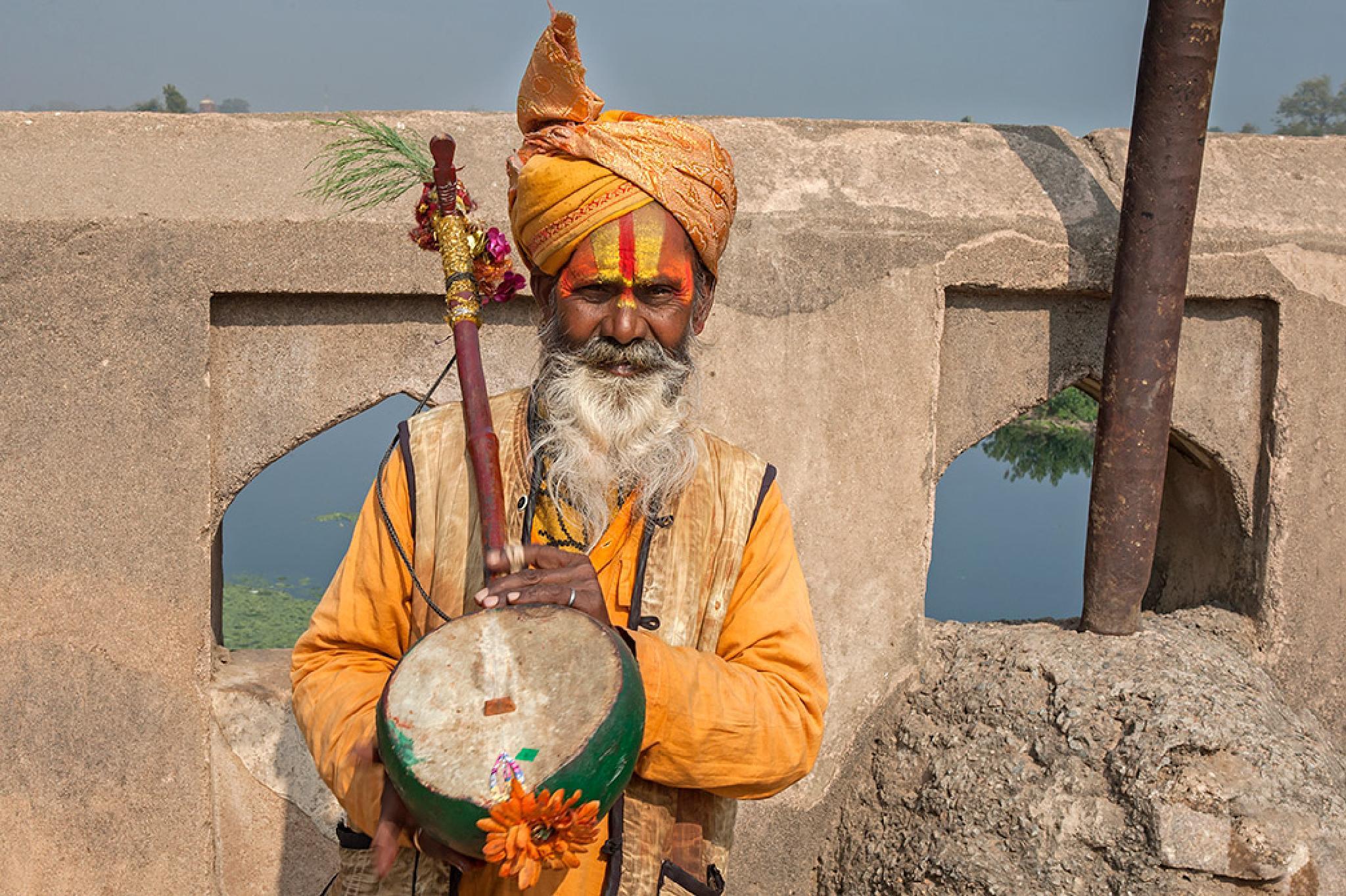 Holy Man, Jaipur, India by Sotiris Siomis