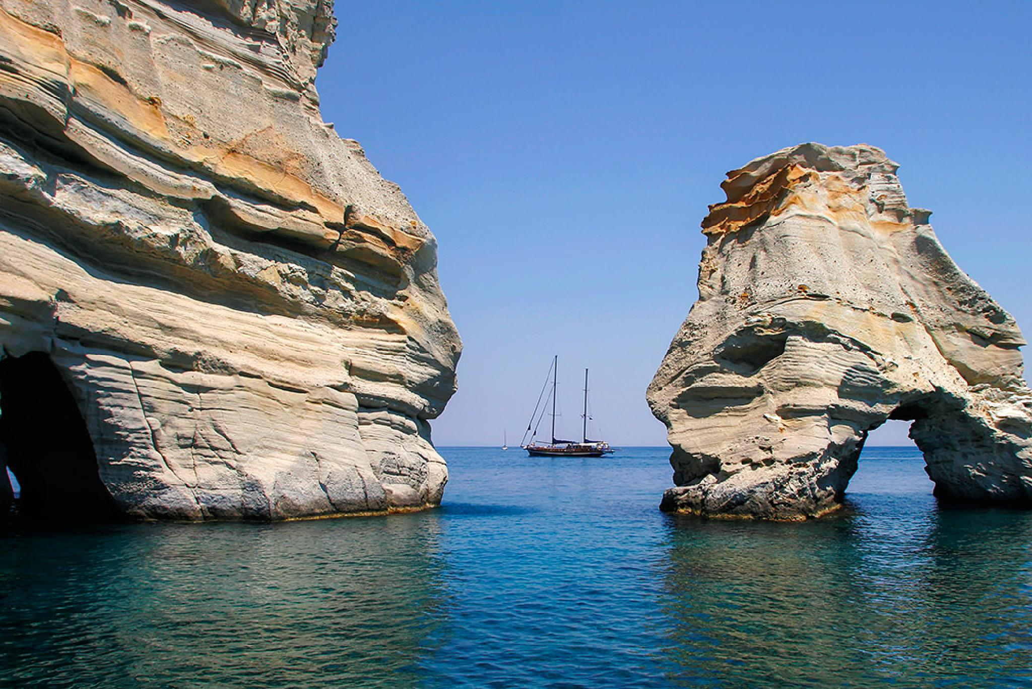 Milos  island, Kleftiko  by Sotiris Siomis