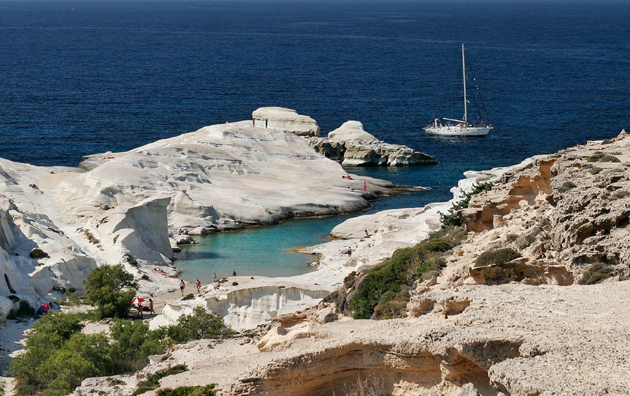 Sarakiniko,Milos island by Sotiris Siomis