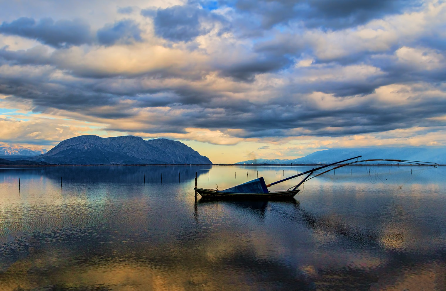 Traditional fishing boat by Sotiris Siomis