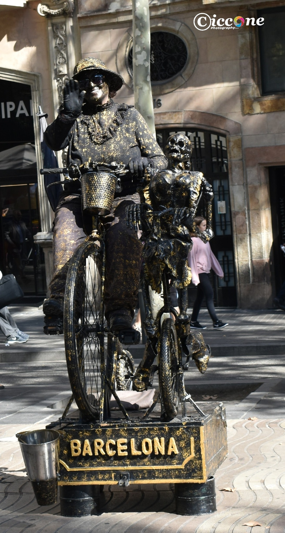 Street performer in Barcelona by Marc Ciccone