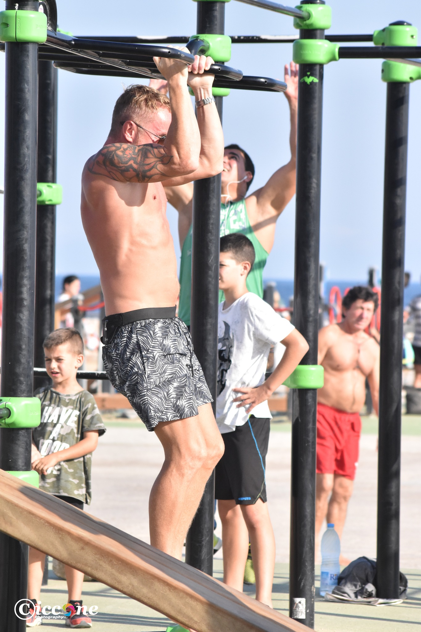 Muscle Beach in Barcelona  by Marc Ciccone