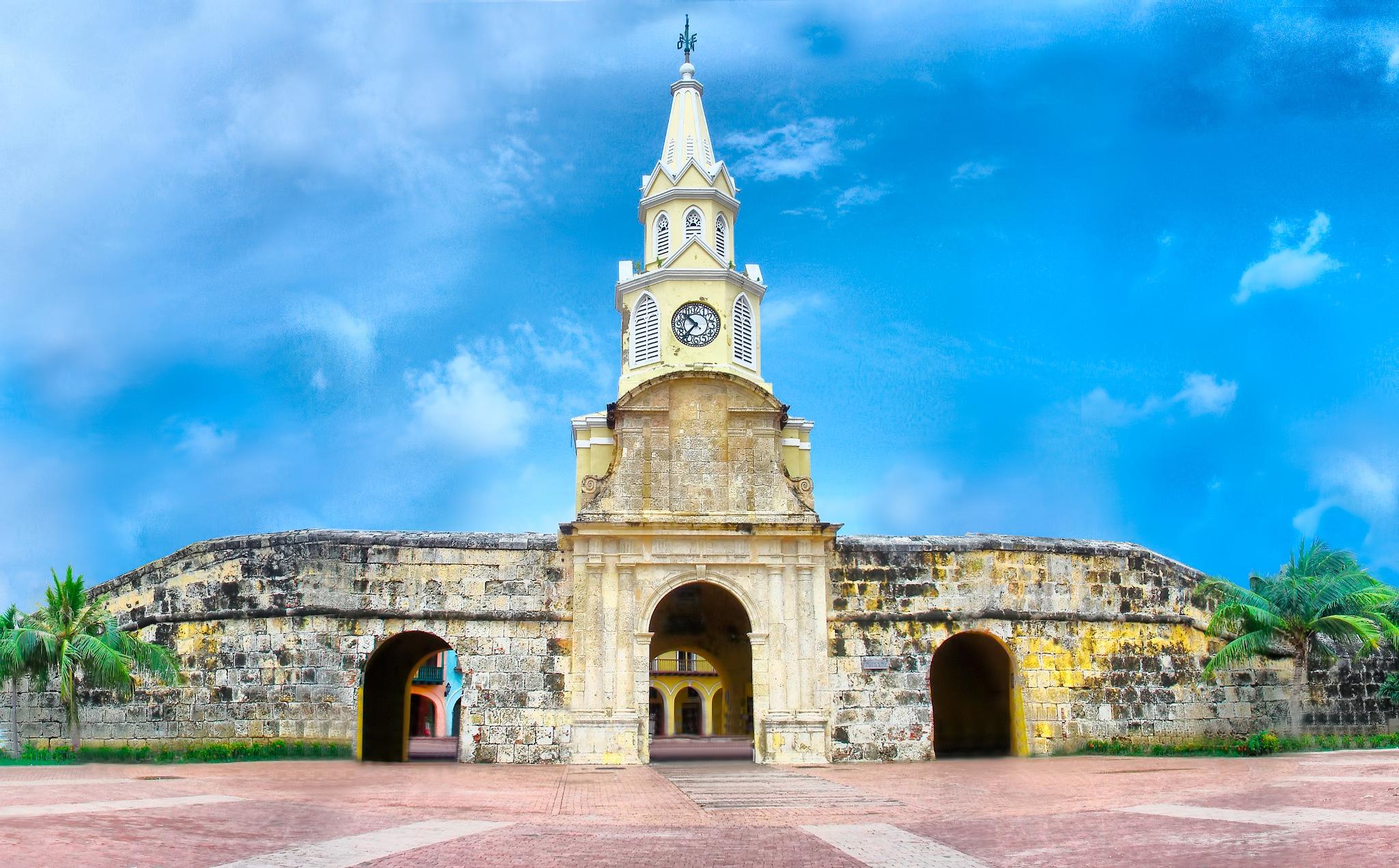 Clock Tower - Cartagena, Colombia by Jorge A. Bohorquez S.