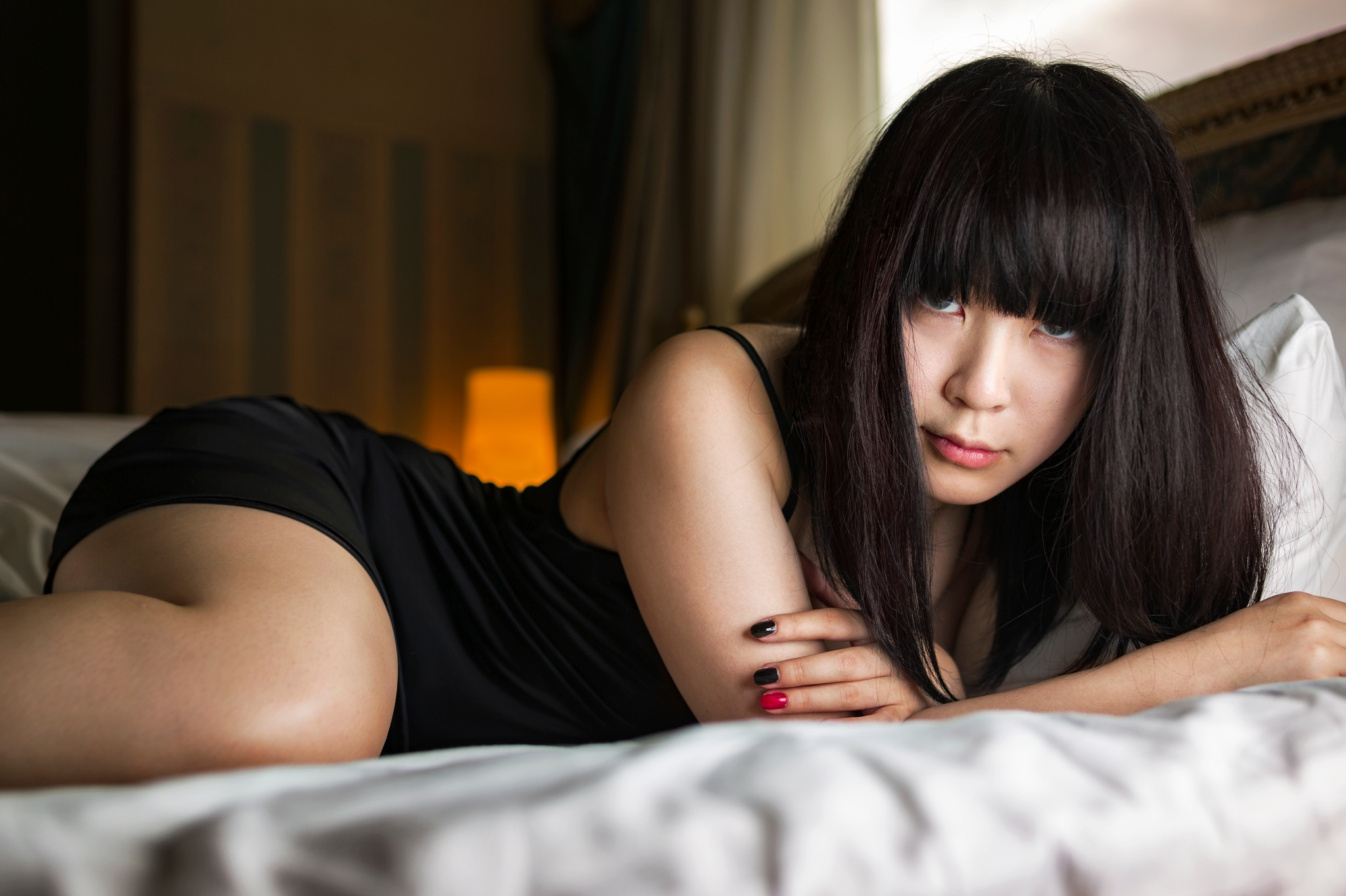 Photo in People #portrait #woman #bed