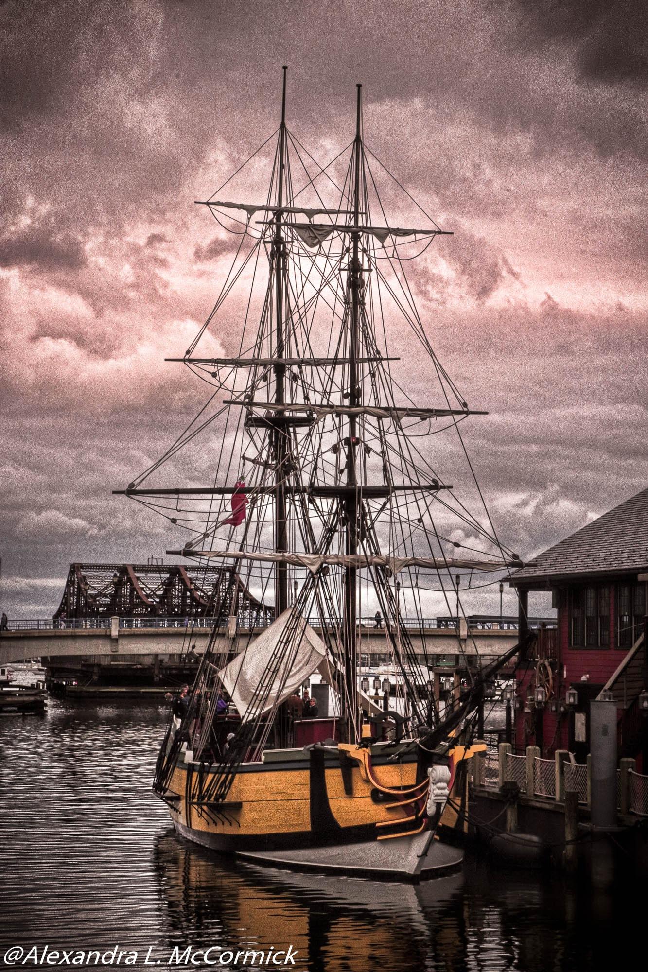 Tall Ship In Boston Massachusetts by Alexandra L. McCormick