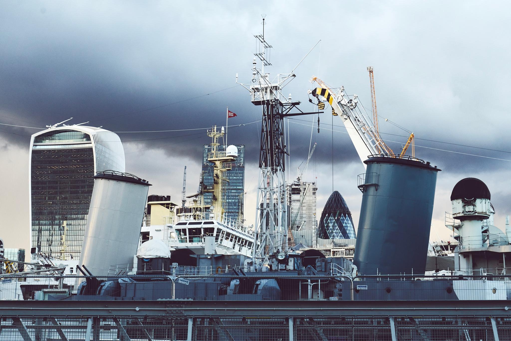 HMS Belfast by Daniel Malone