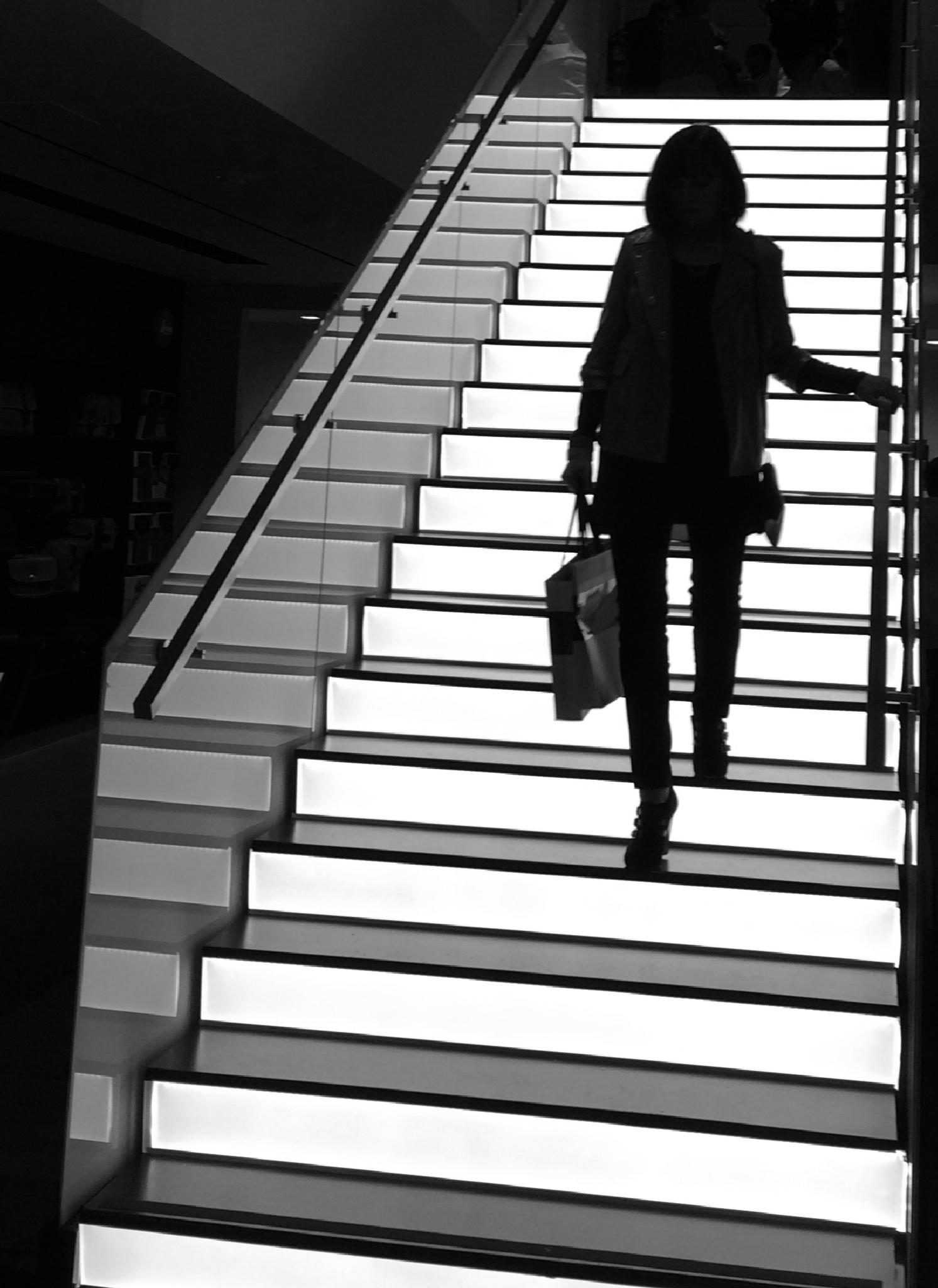 Down the Up Stairs by Carl Coan Photography