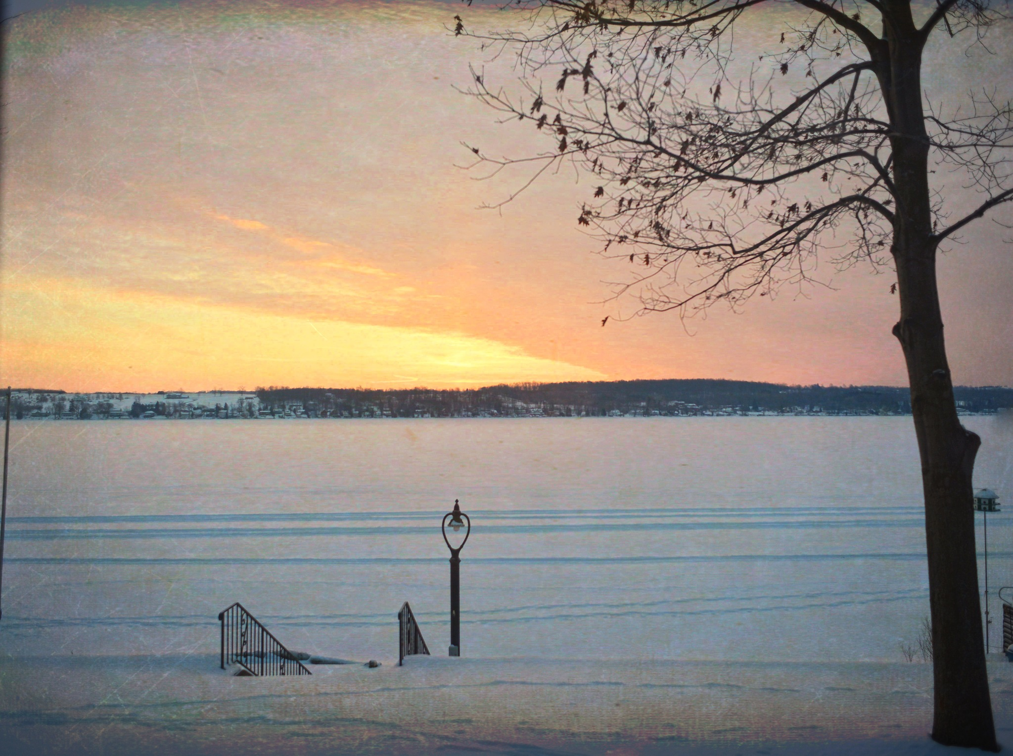 Winter at the Lake by Dr Martin Wenzel
