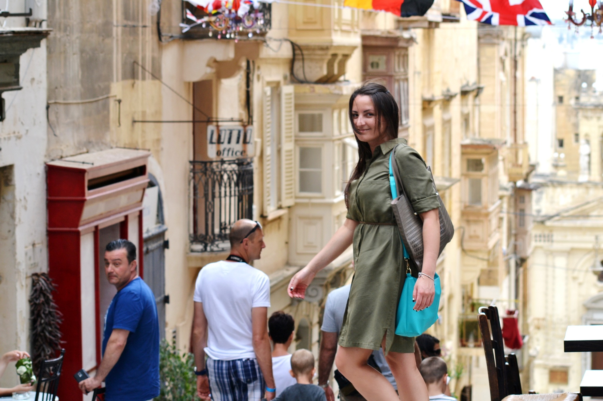 Busy streets of Valletta by Maria A. Lass