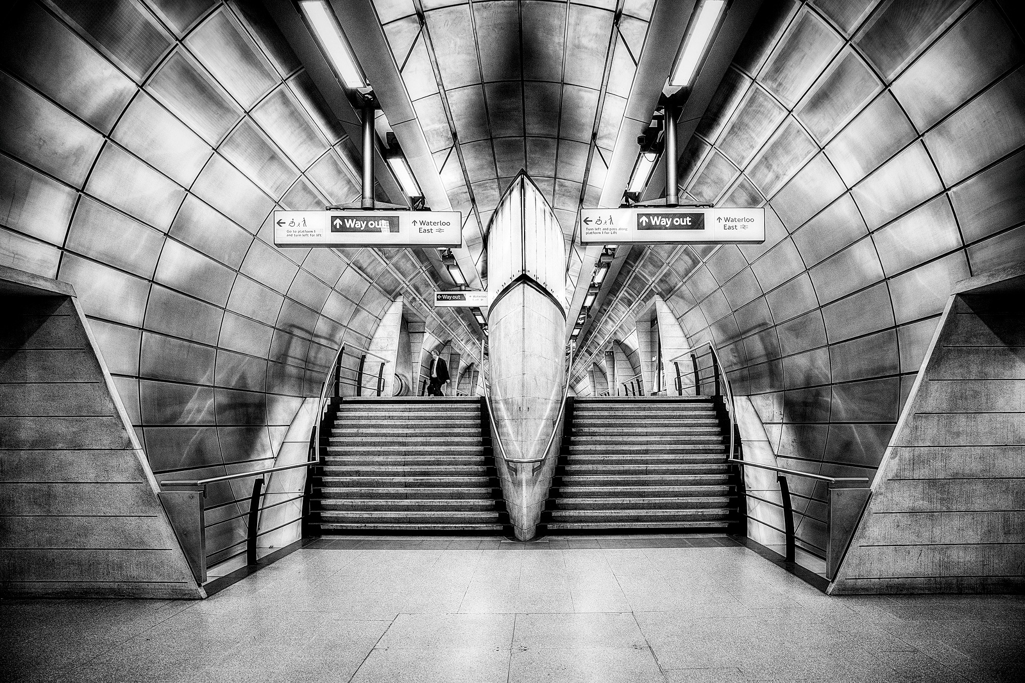 Alone in the metro by Maurits De Groen