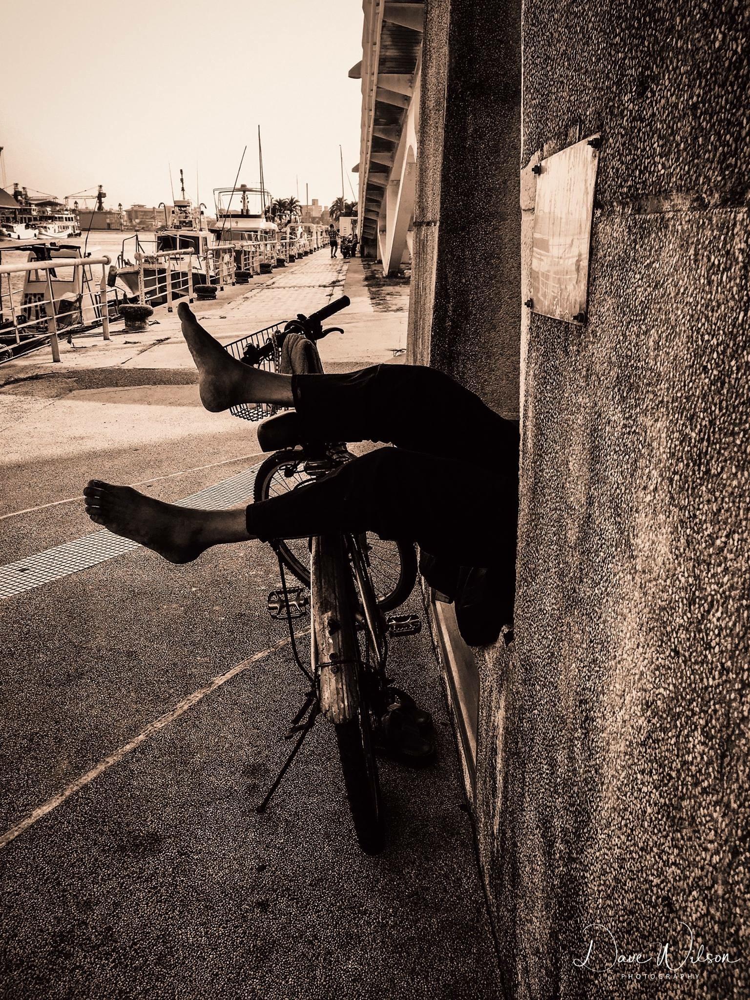 Homeless siesta by Dave Wilson
