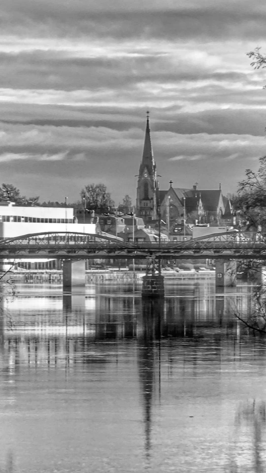 My hometown Umeå in bw  by Pelle Westberg