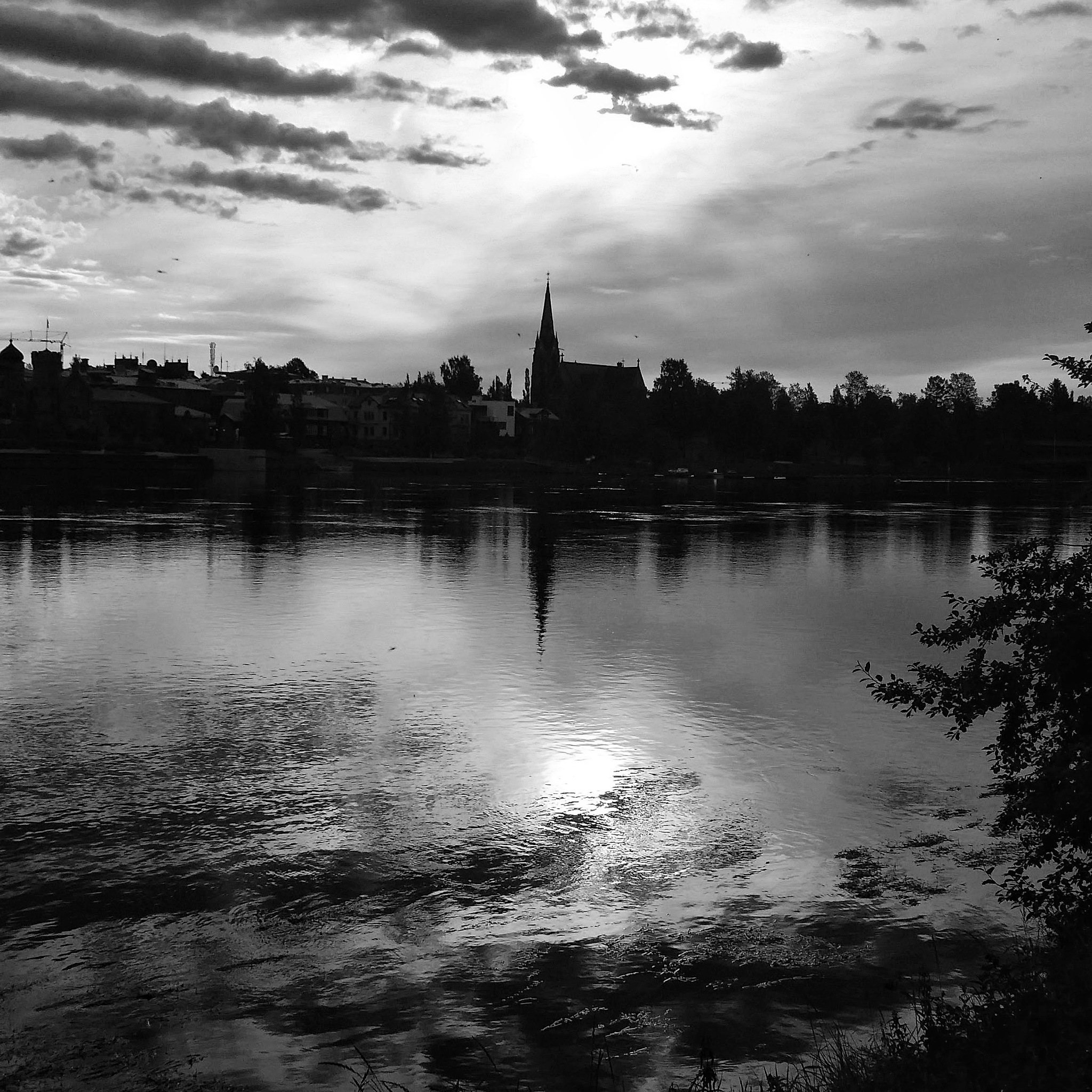 church reflections in bw  by Pelle Westberg