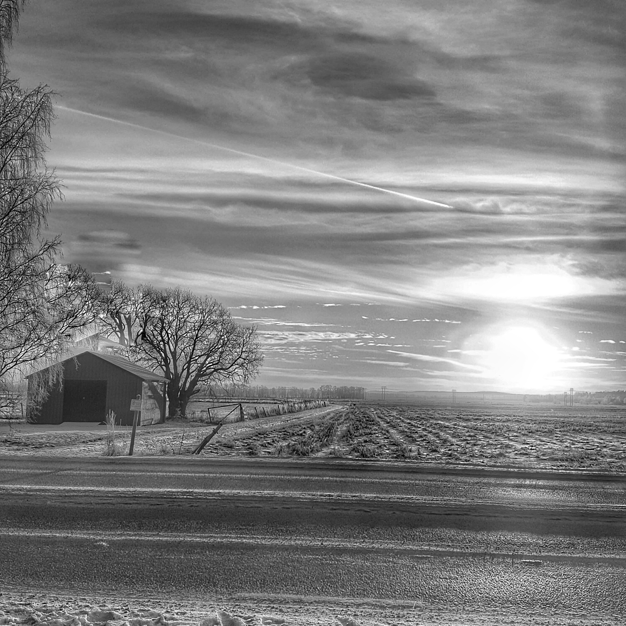bw countryside  by Pelle Westberg