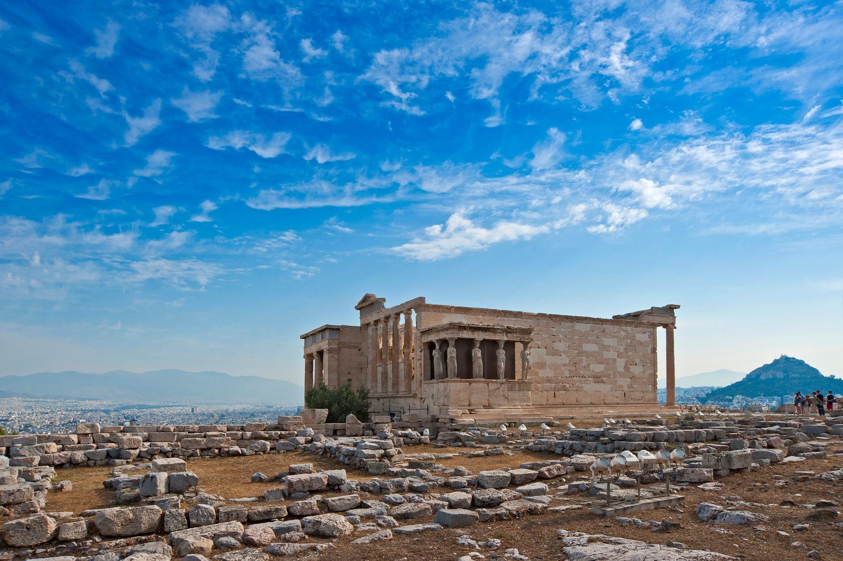 Erechtheum in Acropolis of Athens by Konstantinos Arvanitopoulos