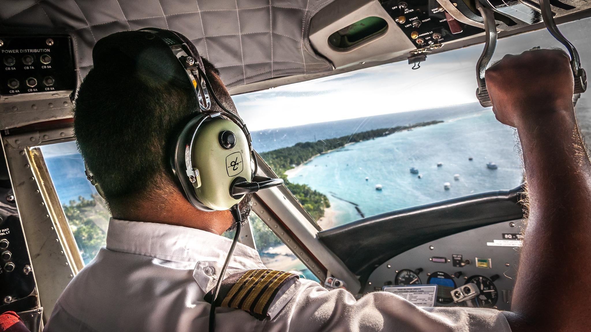 Maldives Seaplane by Christian Hofmann
