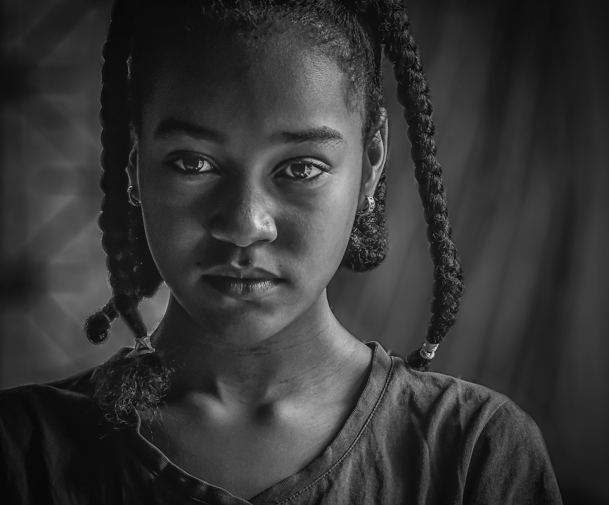 a beautiful little sister  by Mohammed Ali
