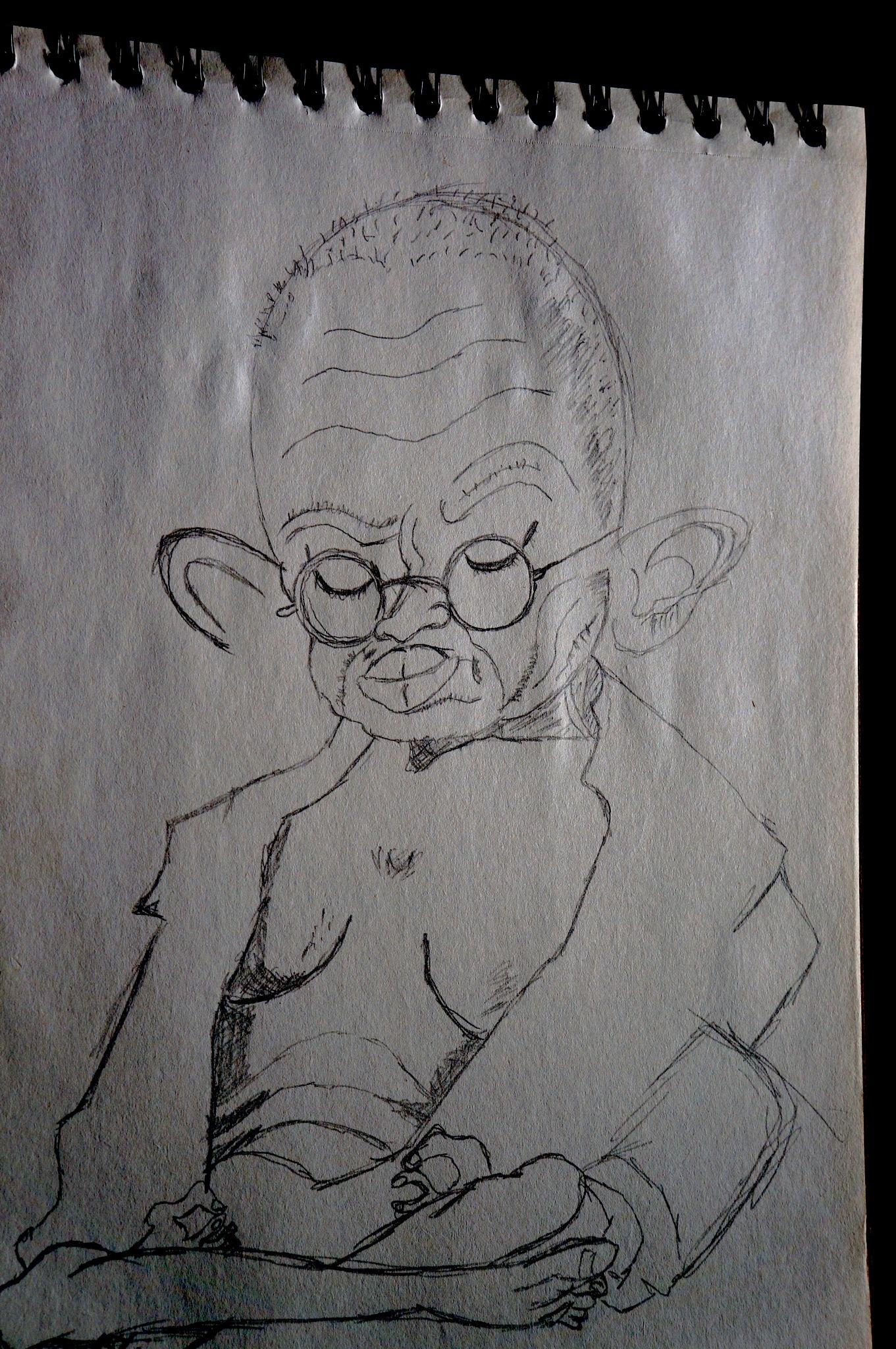 Gandhi (sketch) by Kmilo