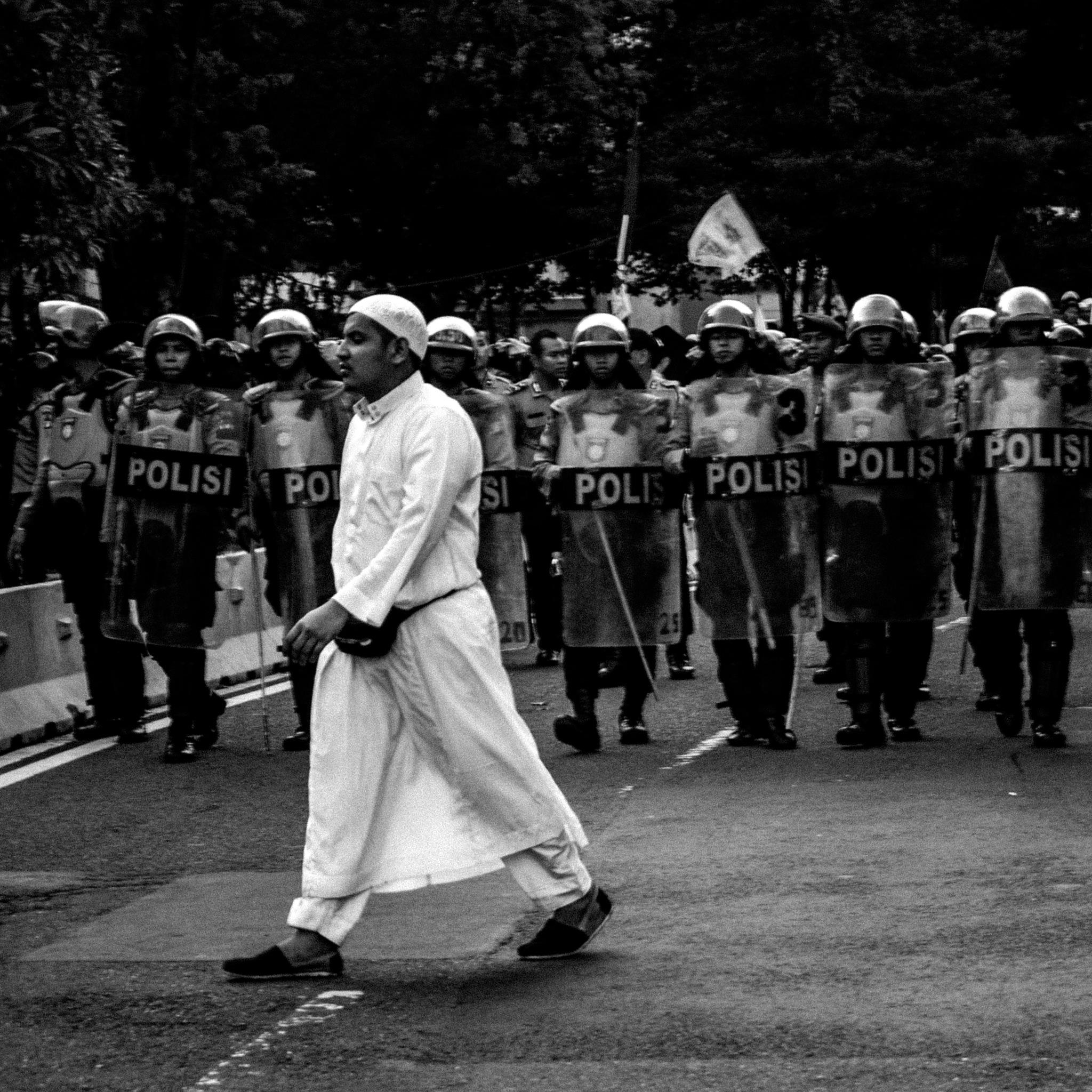 A Muslim Demonstran by Aditya Fajril Nugroho