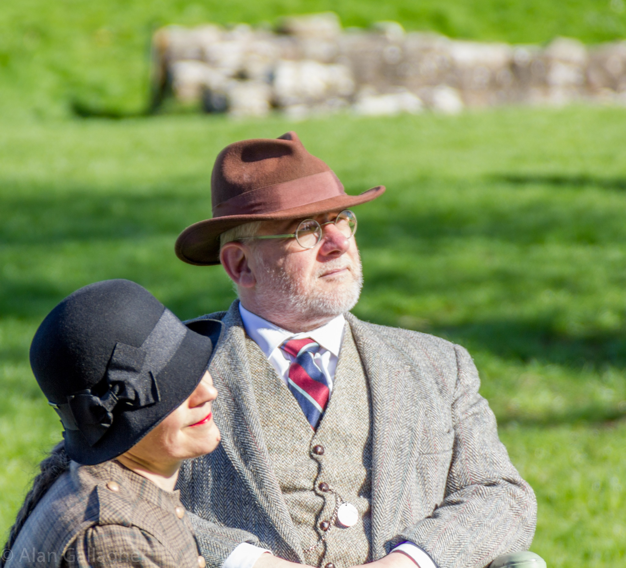 A lovely couple in period clothing by Alan Gallagher