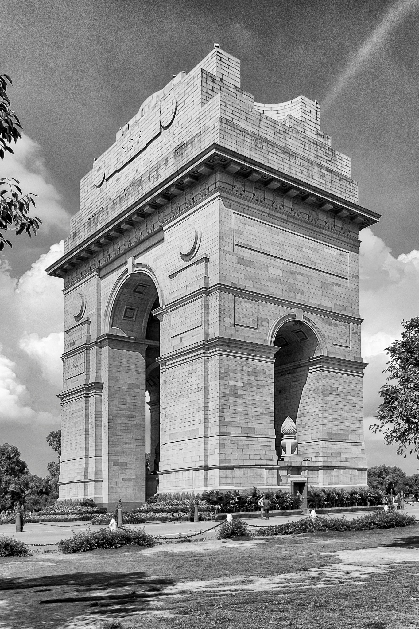 New Delhi, India, September 08.2014 View Of Entire India Gate In Black and White Version by Sumit