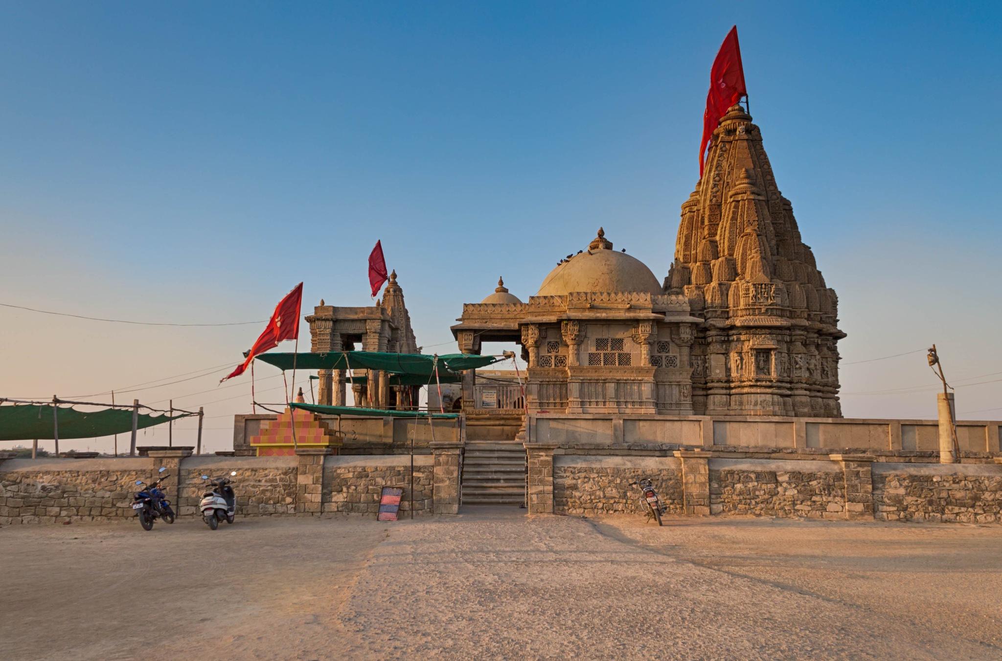 Front View Of Rukmini Mata Temple Dwarka Gujarat by Sumit