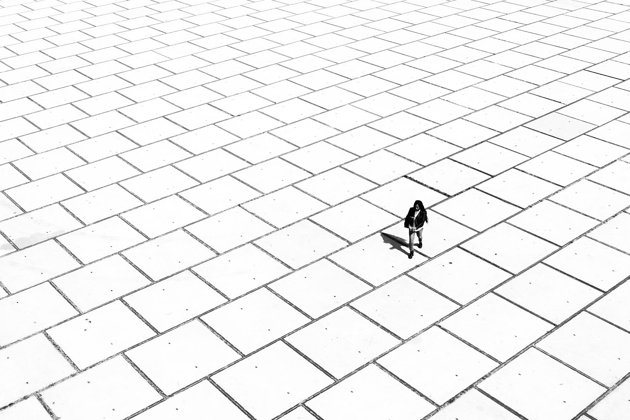 Woman on the street by Özgür Abaci