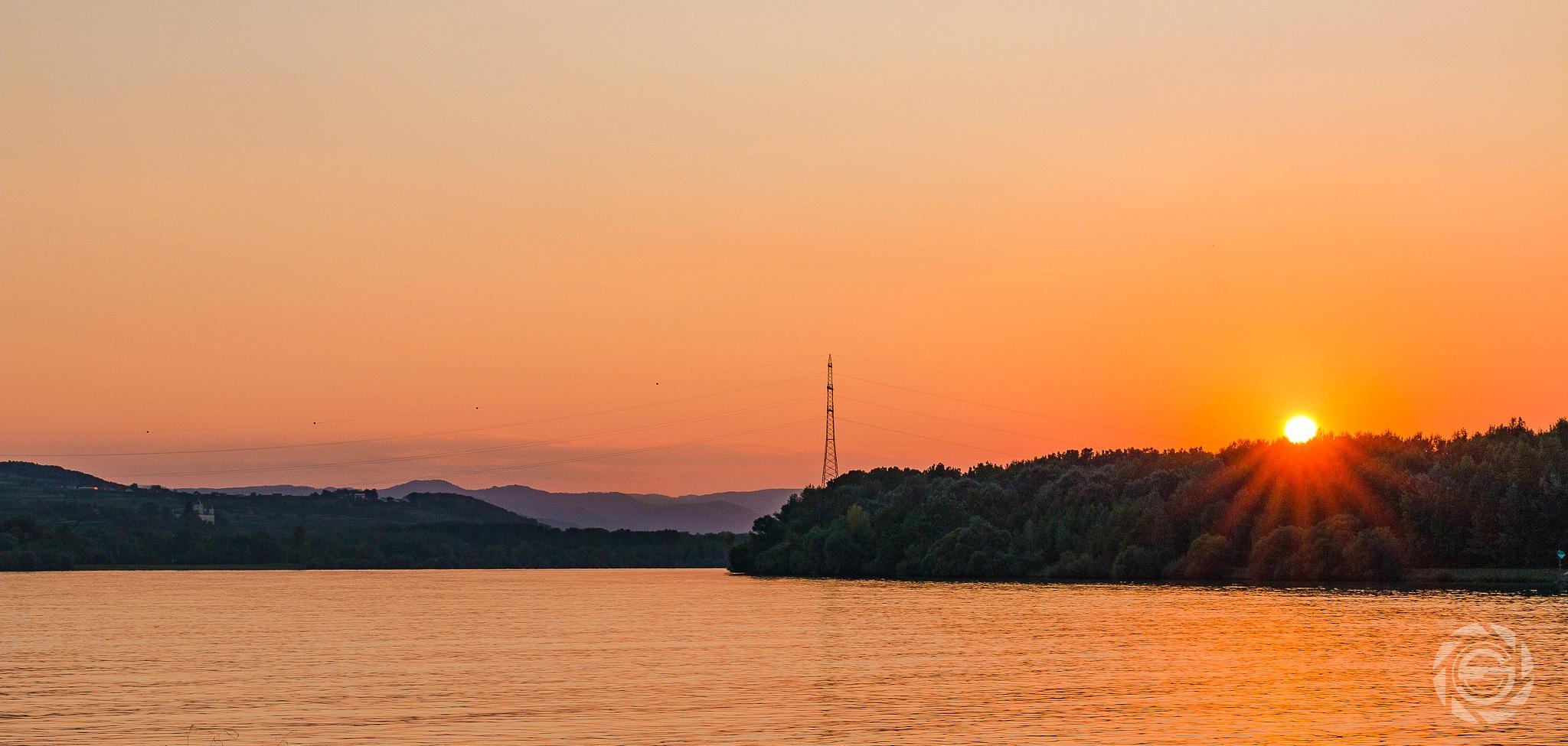 Danube Sundown by Michael Giesinger