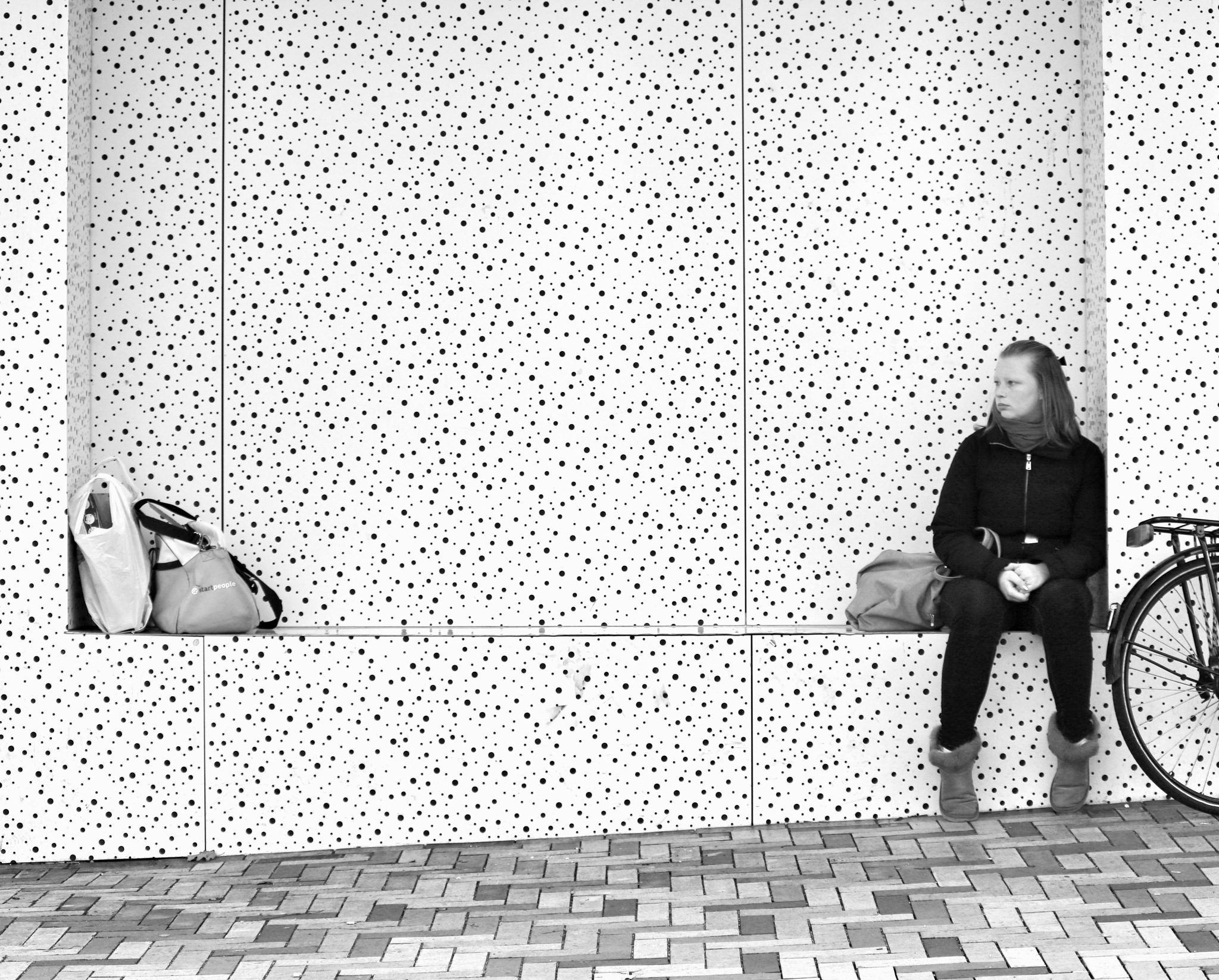Black, White and in the corner  by Bert Bosch