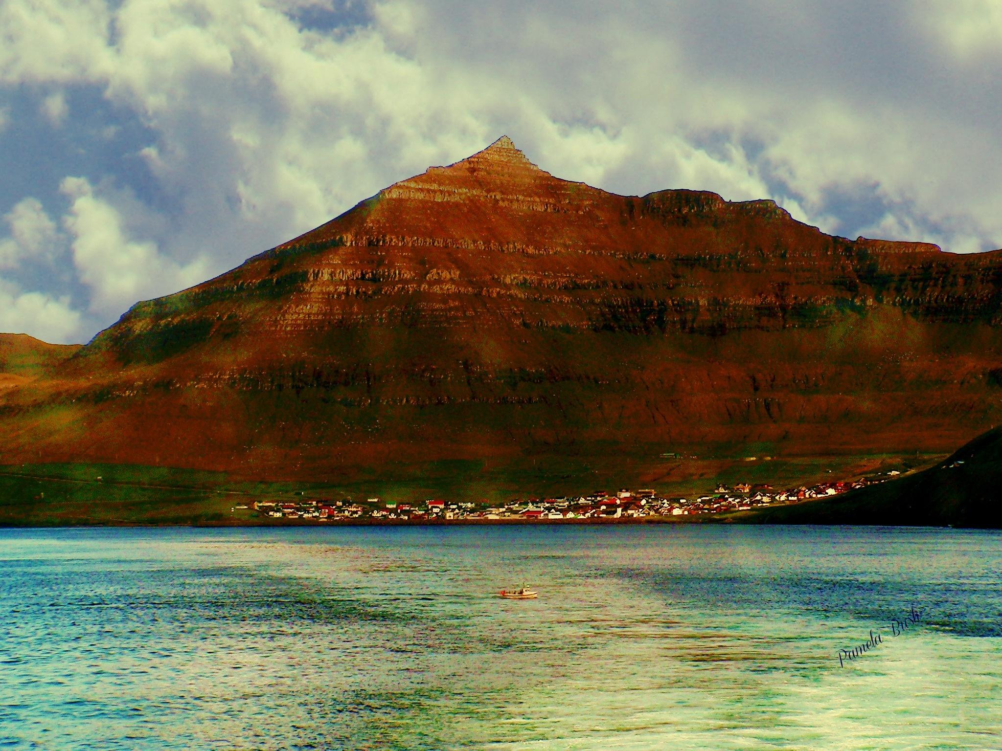 Leaving Faroes  by Cumbria Ladd