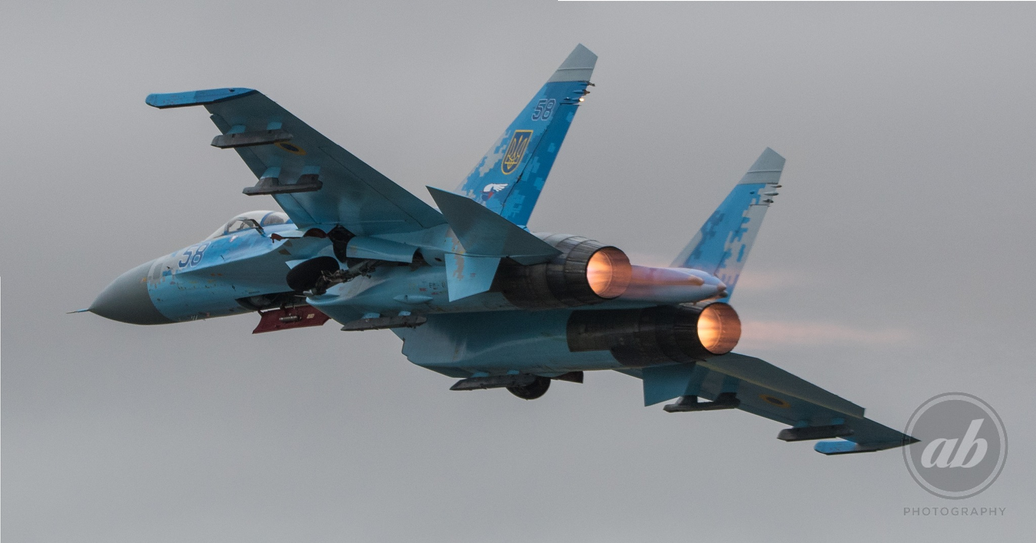 Ukrainian Air Force SU-27 by ABPhotography