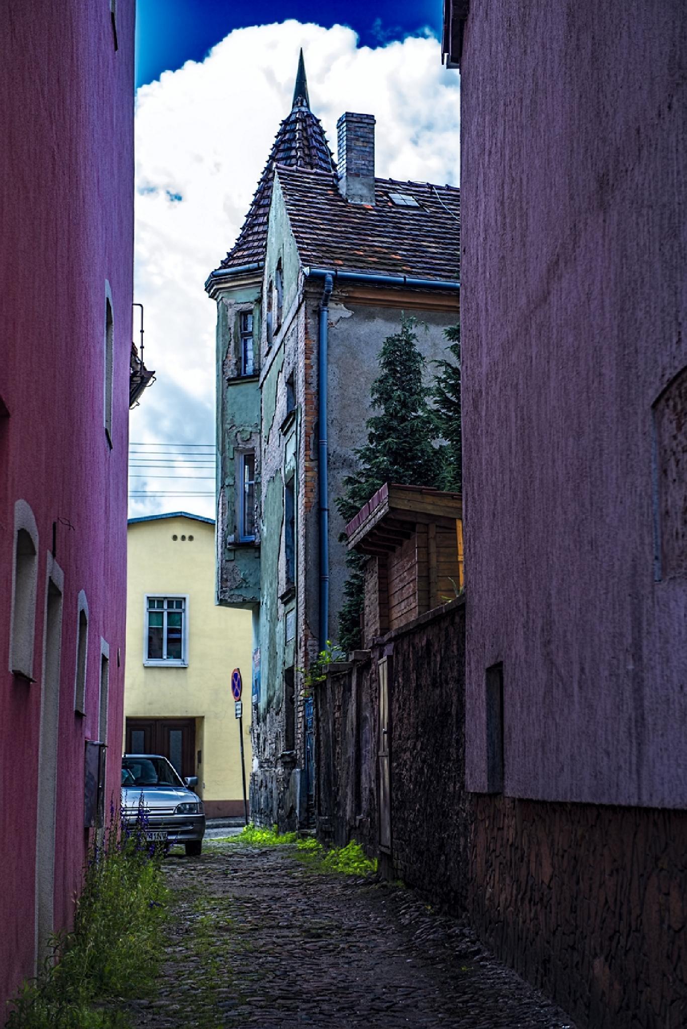 Pink alley by Waldemar Sadlowski