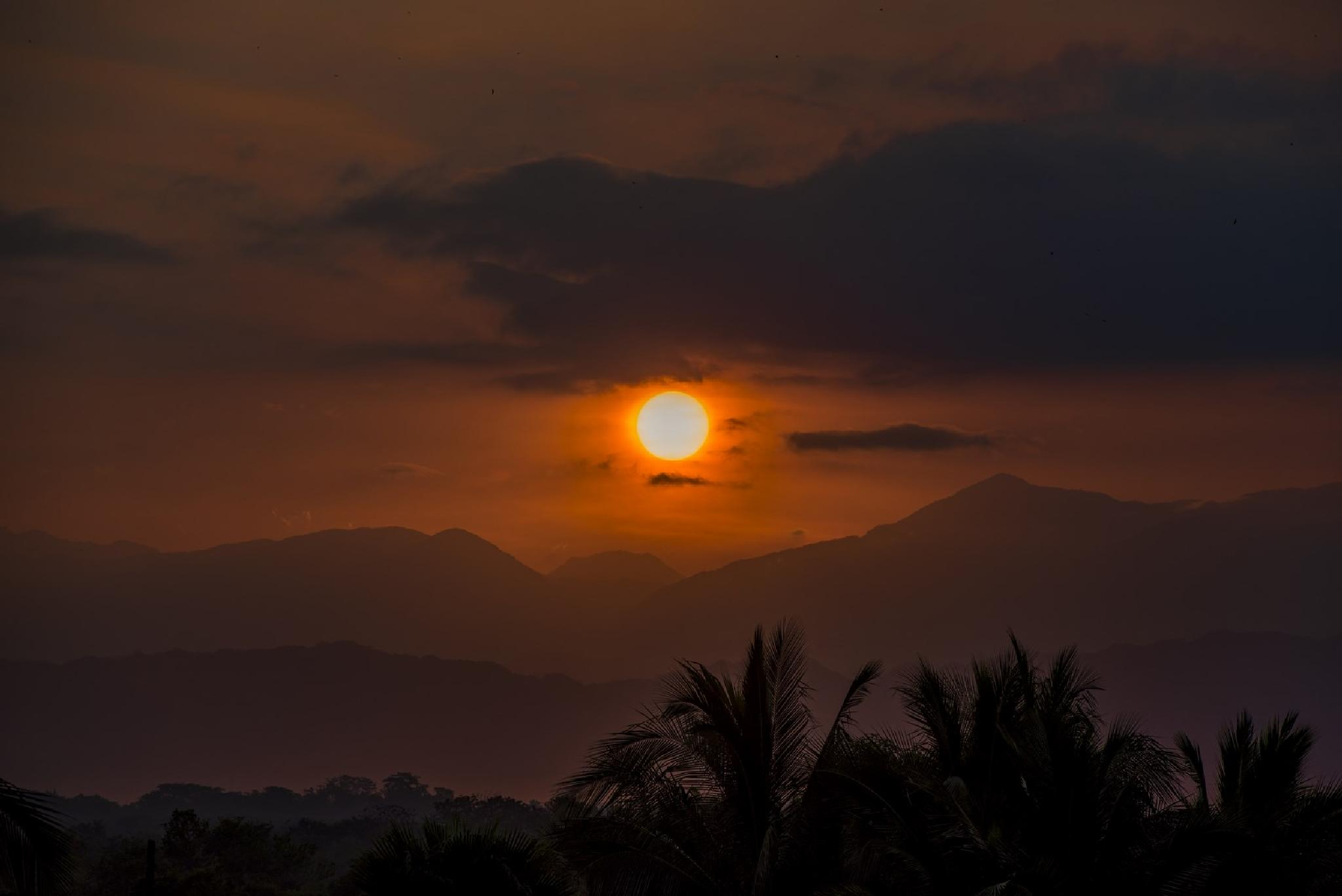 Sunrise. View of the mountains of the Sierra Madre Occidental by Waldemar Sadlowski