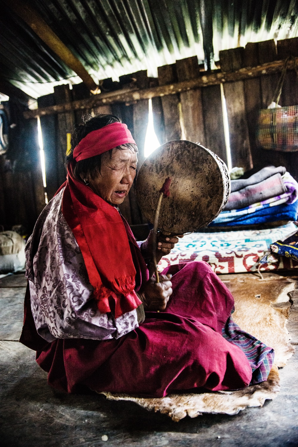 One of the last Shaman in Bhutan by Michael Marquand