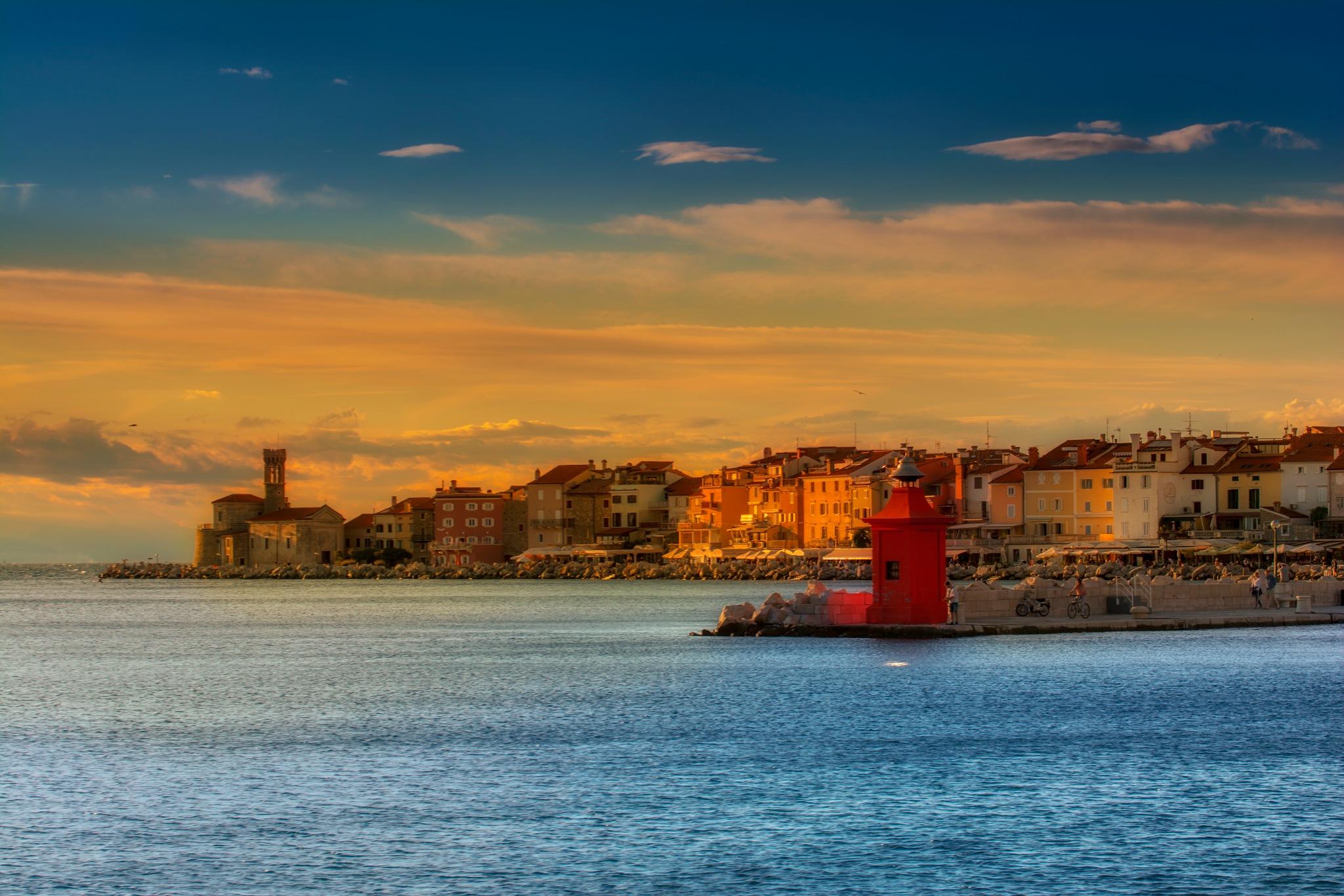 PIRAN..sunrise by Beno Medic