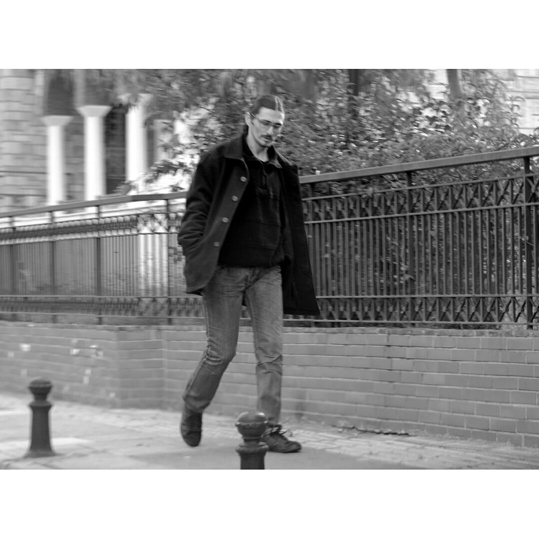 Man walks alone....  by Dimitris