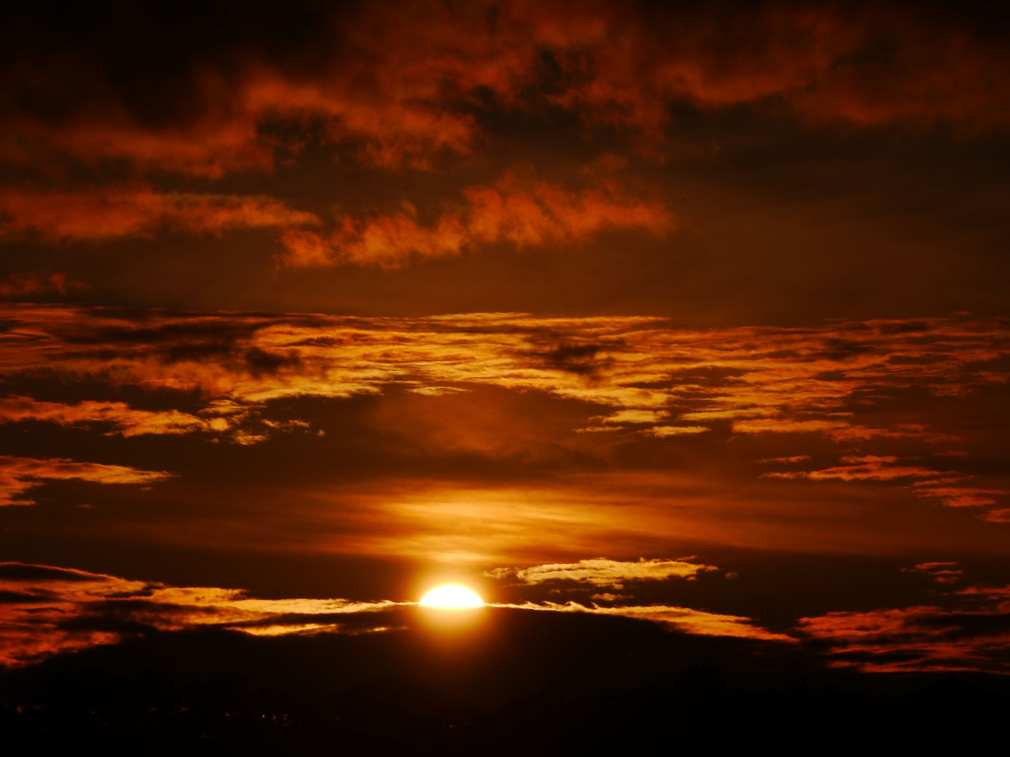 Sunset over the Moor tonight by Darren Turner