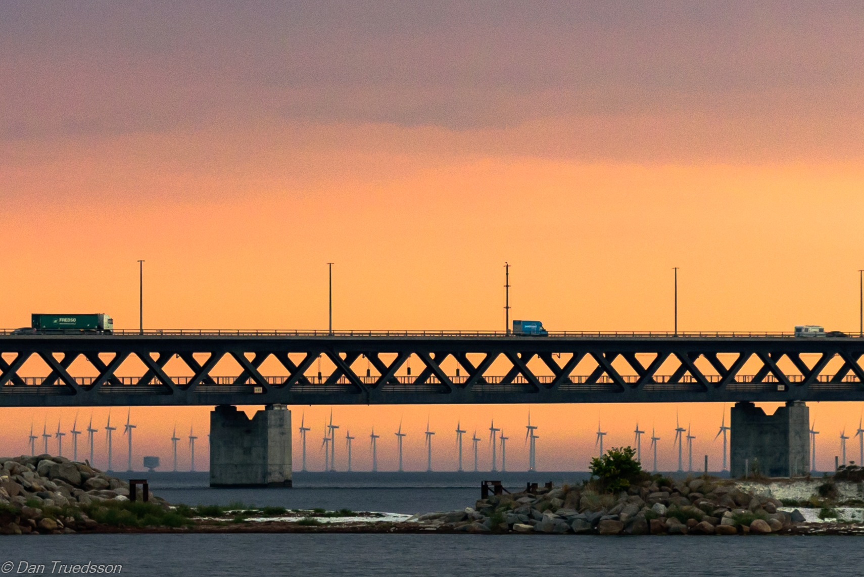 A little bit of the Öresund Bridge by Dan Truedsson